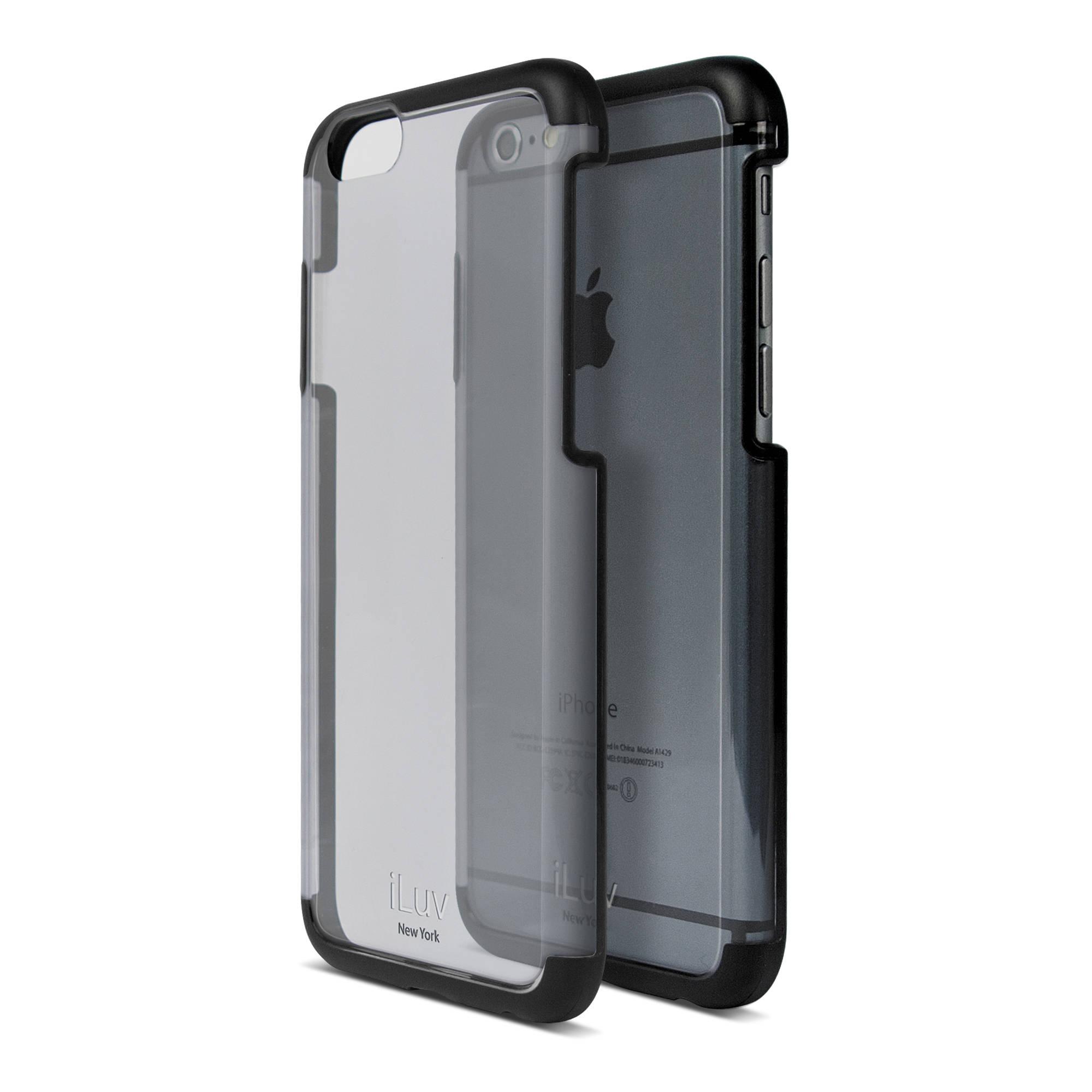 iluv vyneer case for iphone 6 6s black ai6vynebk b h photo. Black Bedroom Furniture Sets. Home Design Ideas