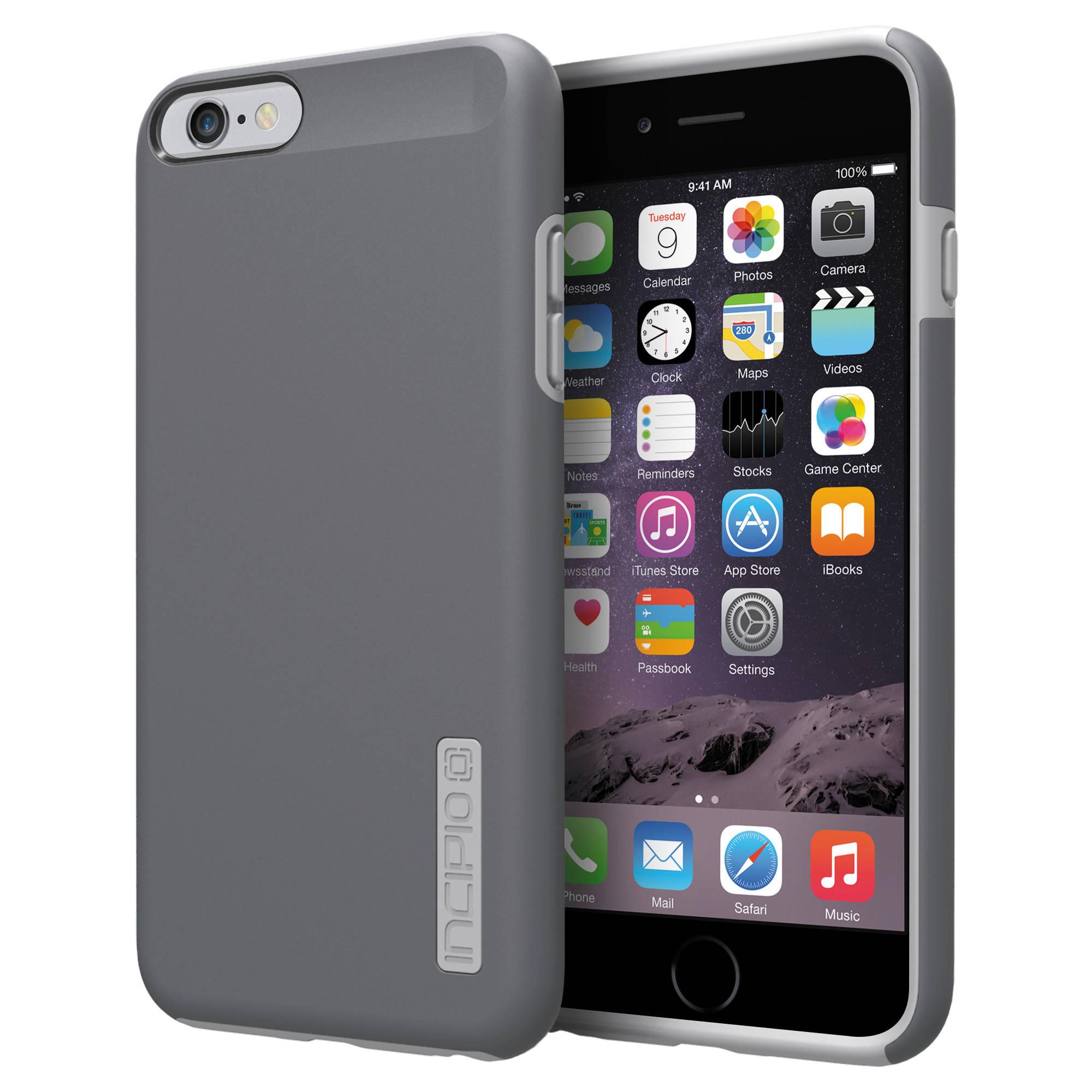incipio dualpro case for iphone 6 plus 6s plus iph 1195 gry b h. Black Bedroom Furniture Sets. Home Design Ideas