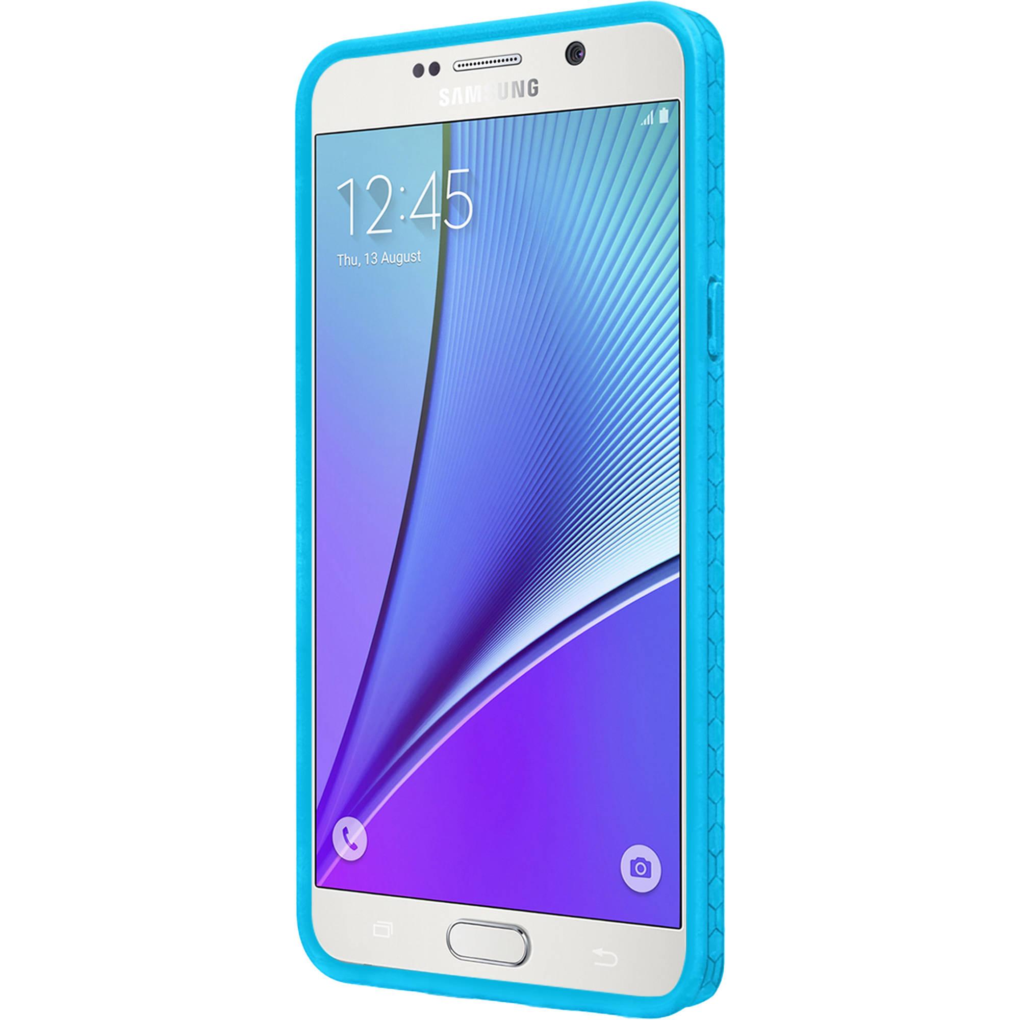 first rate b2aea b01f3 Incipio Octane Case for Galaxy Note 5 (Frost/Cyan) SA-700-CYN