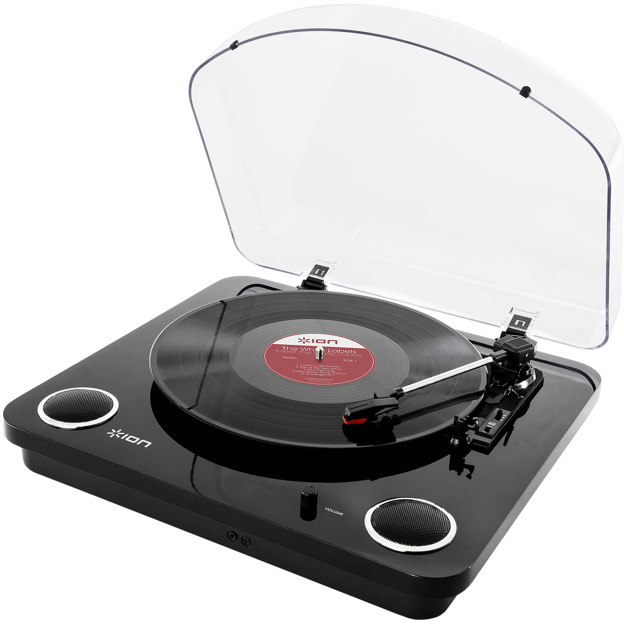 Ion Audio Max Lp Conversion Turntable With Stereo Black Aa Recorded Speakers Great Circuit To Listen On Tape