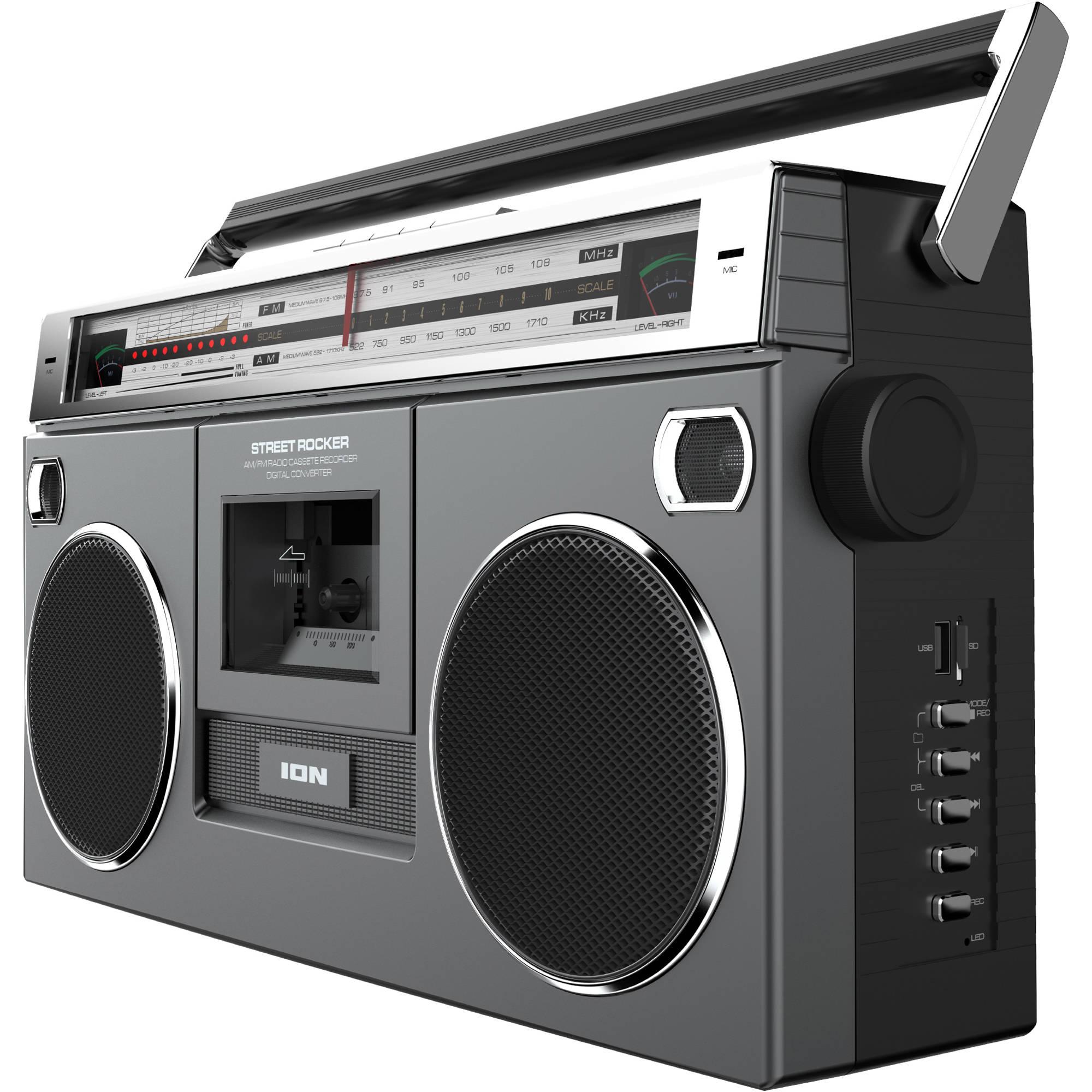 Boombox Speaker Wireless Touch Battery 80s Retro NFC ... |80s Boombox