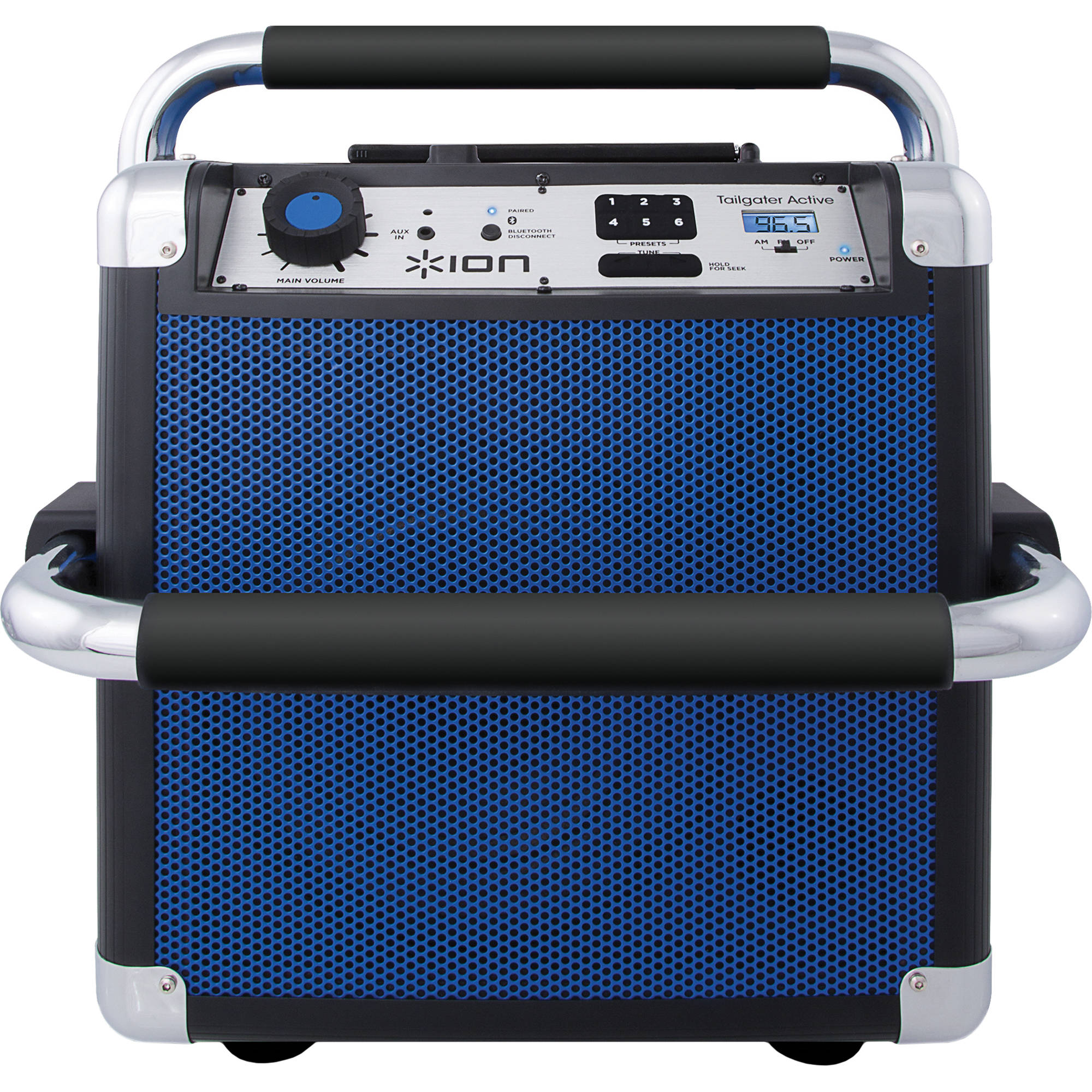 ion audio heavy duty wireless speaker tailgater active blue. Black Bedroom Furniture Sets. Home Design Ideas