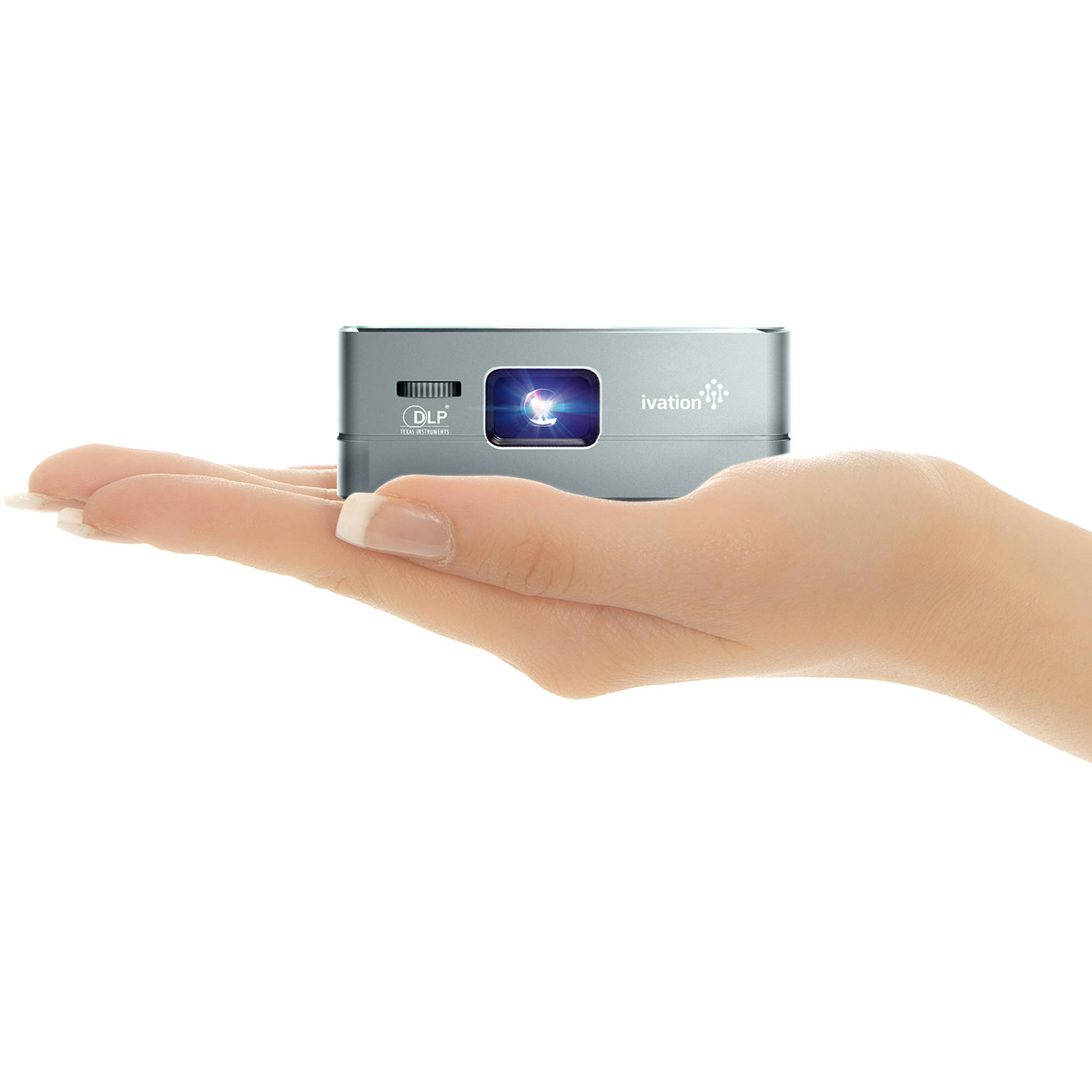 Ivation pro3 portable rechargeable smart dlp ivpjpro3dg b h for Portable smart projector