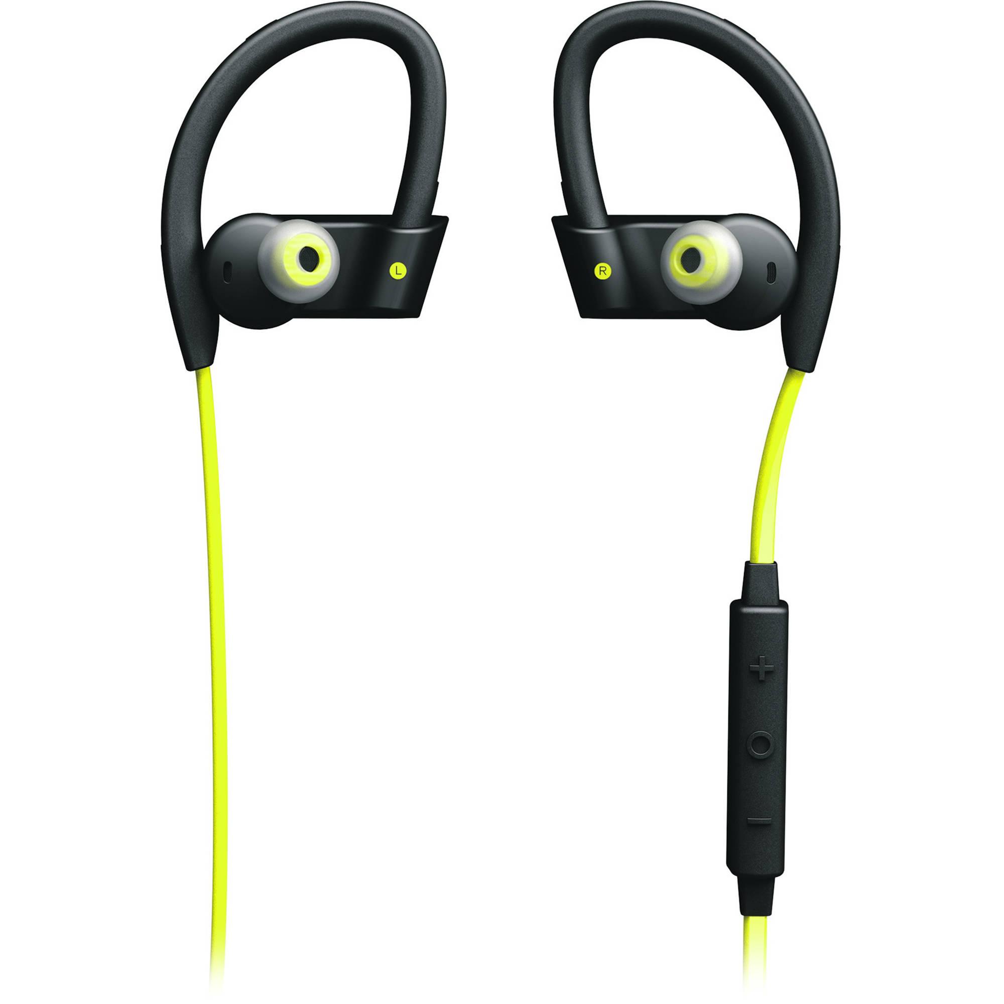 Jabra Sport Pace Wireless Headphones: Jabra Sport Pace Wireless Earbuds (Yellow/Black) 100