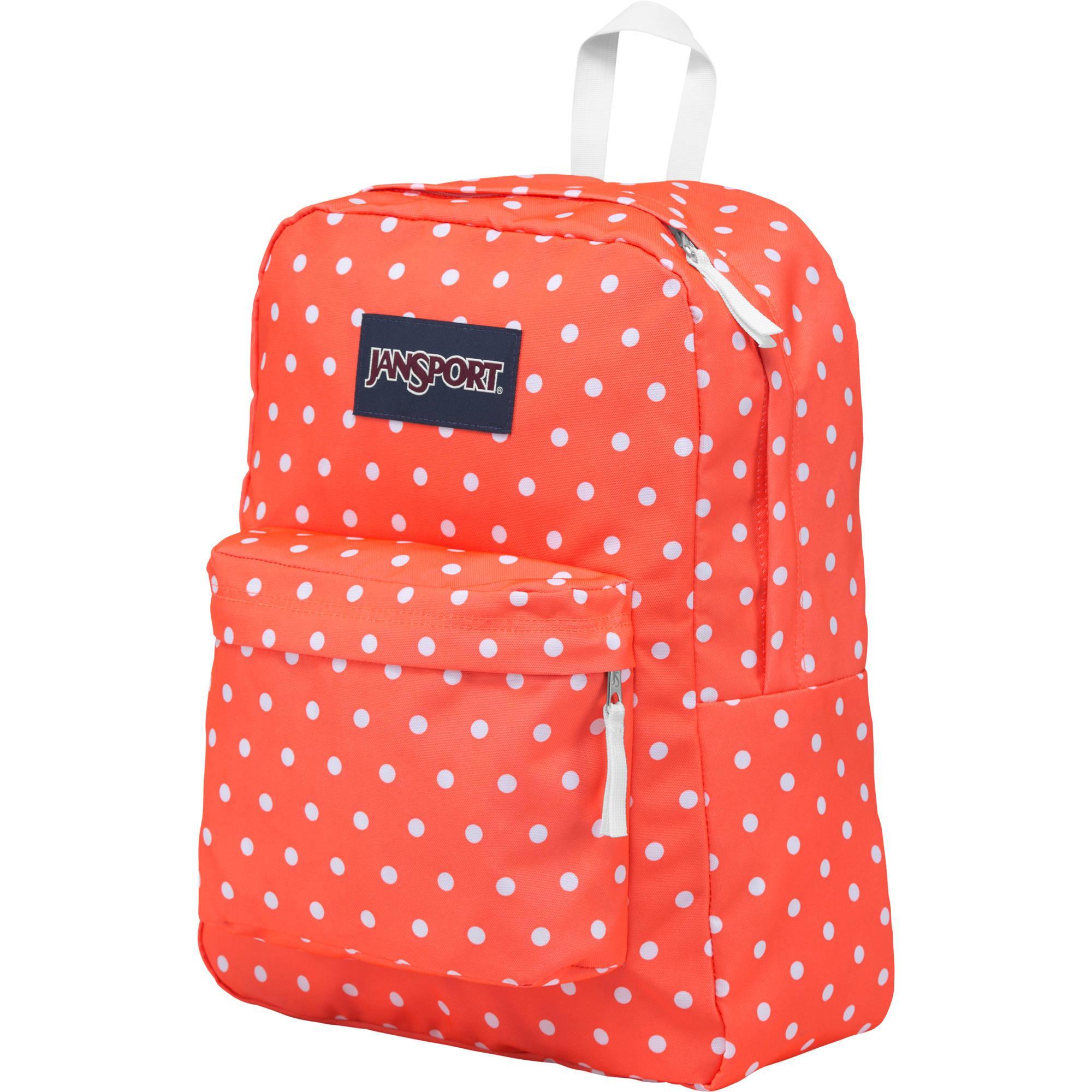 67e14d8344 JanSport SuperBreak 25L Backpack (Tahitian Orange White Dots)