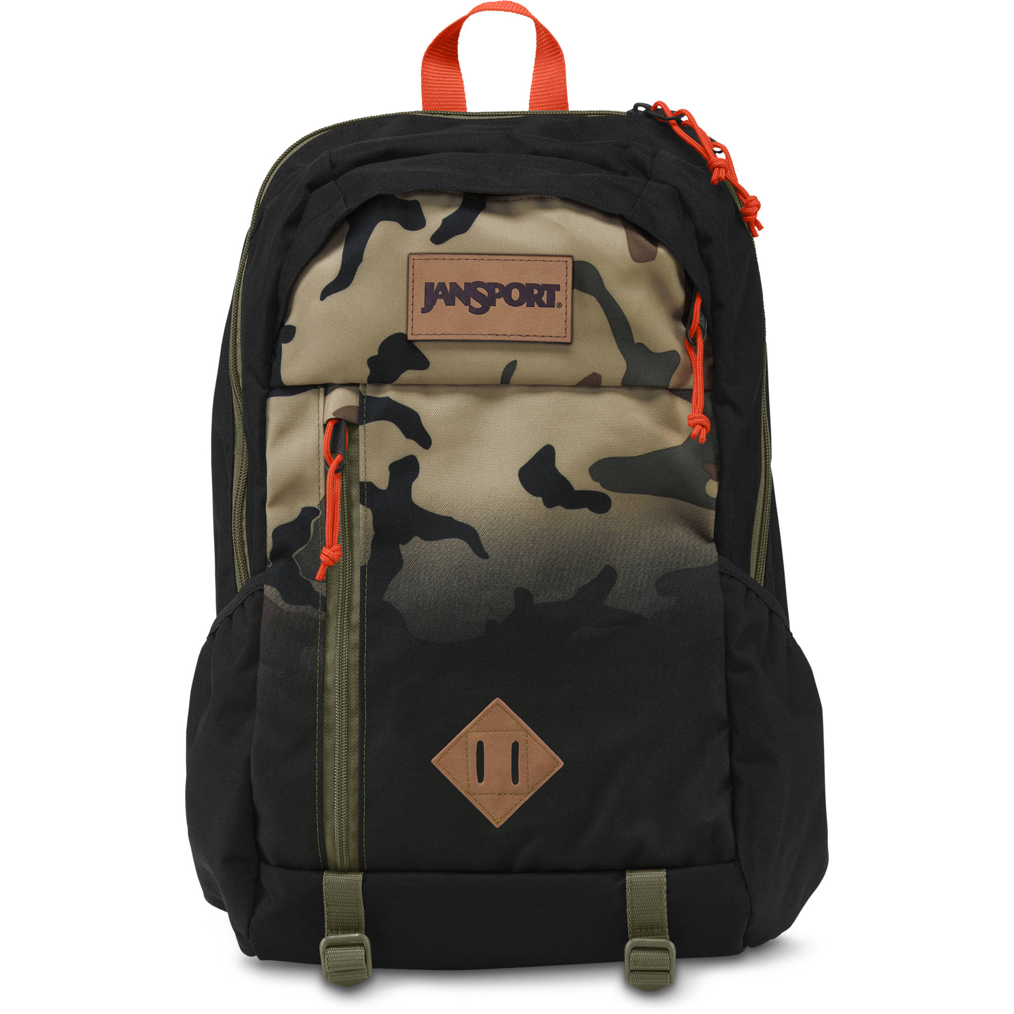 50788dbe24 JanSport Fox Hole 25L Backpack (Black Camo Fade) T52M0BL B H