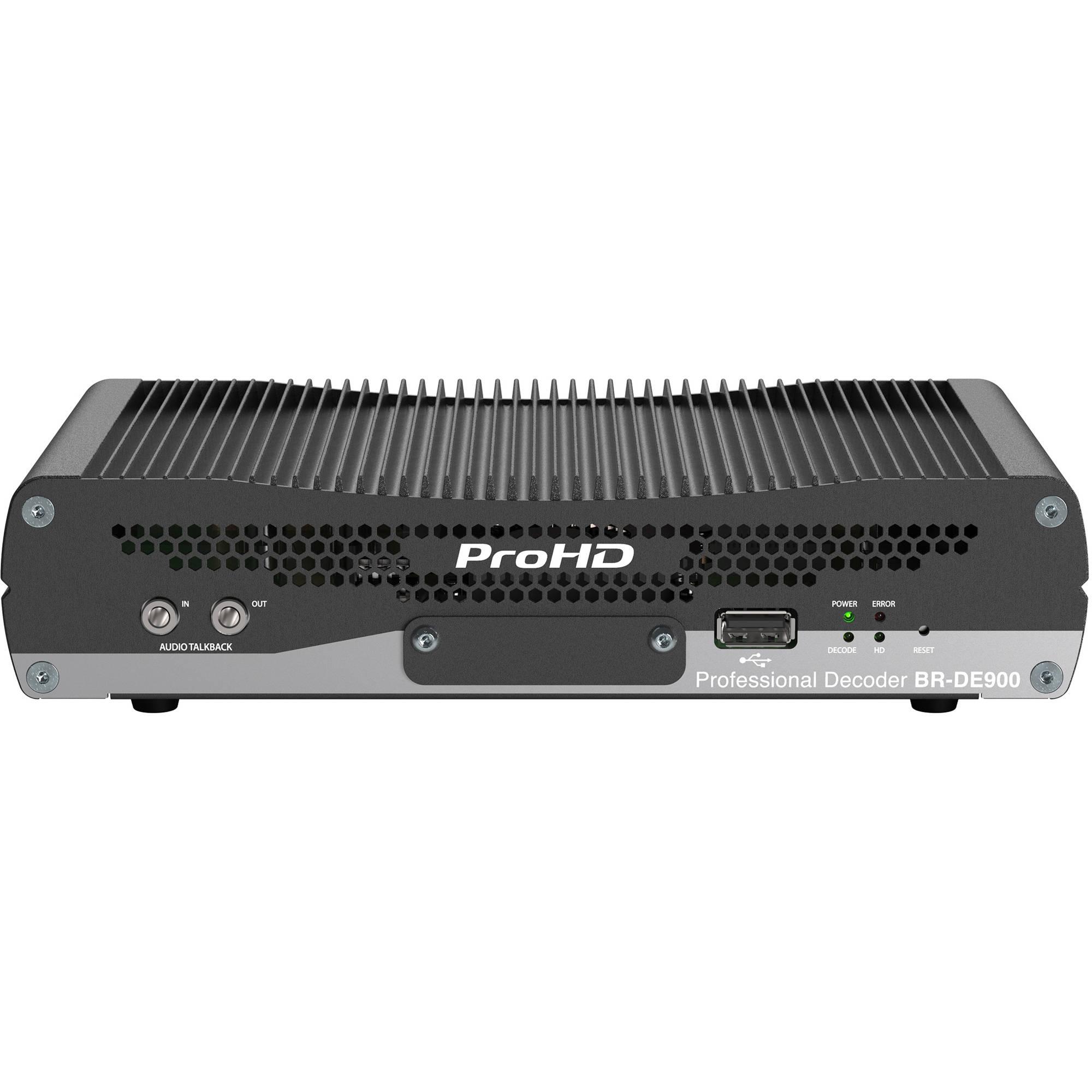 Jvc Br De900 Prohd Ip Decoder Bh Photo Video Rbvhda8 3g Hd Sdsdi 1 Input 8 Output Distribution Amplifier