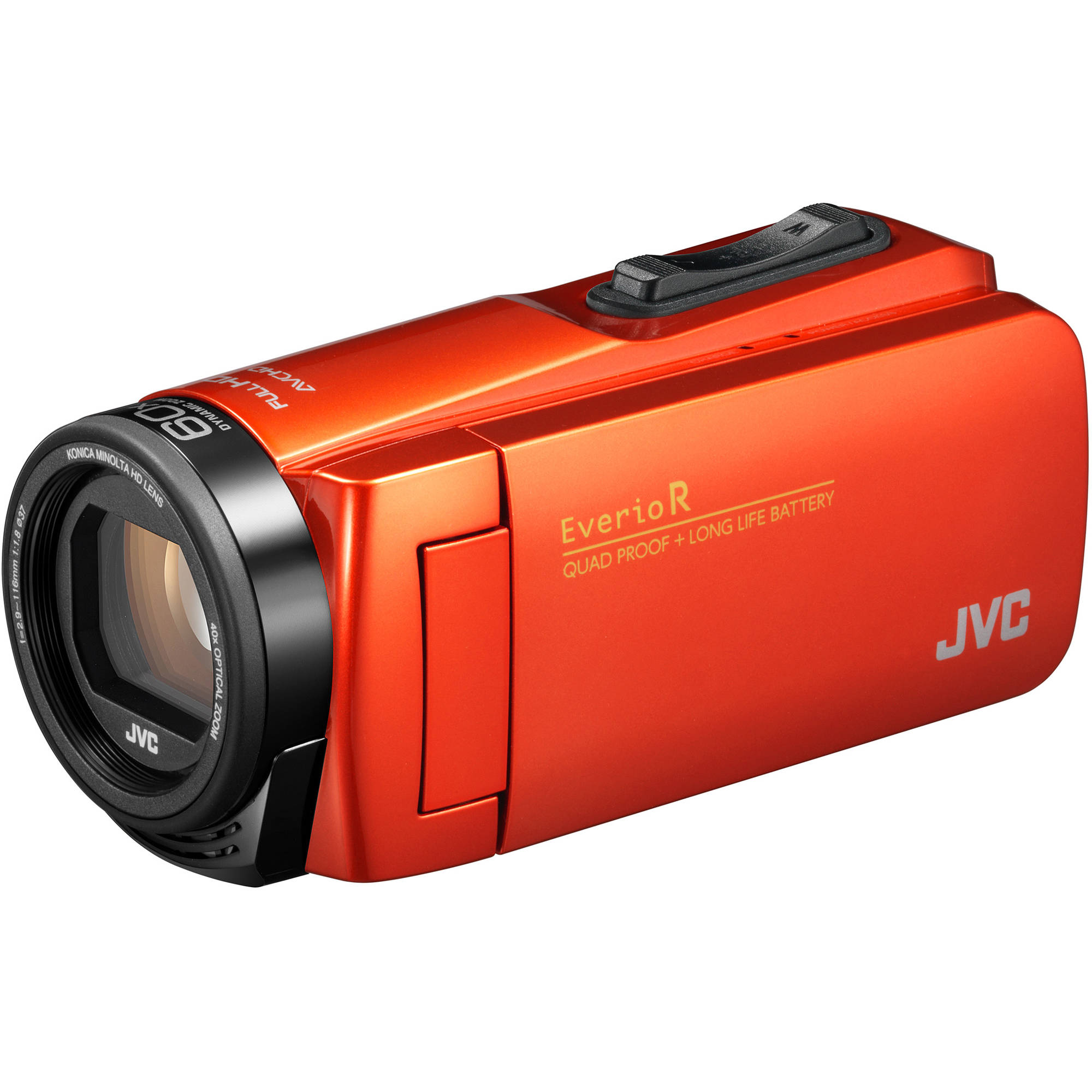 JVC Everio GZ-R460BUS Quad-Proof HD Camcorder with 40x Optical Zoom (Orange