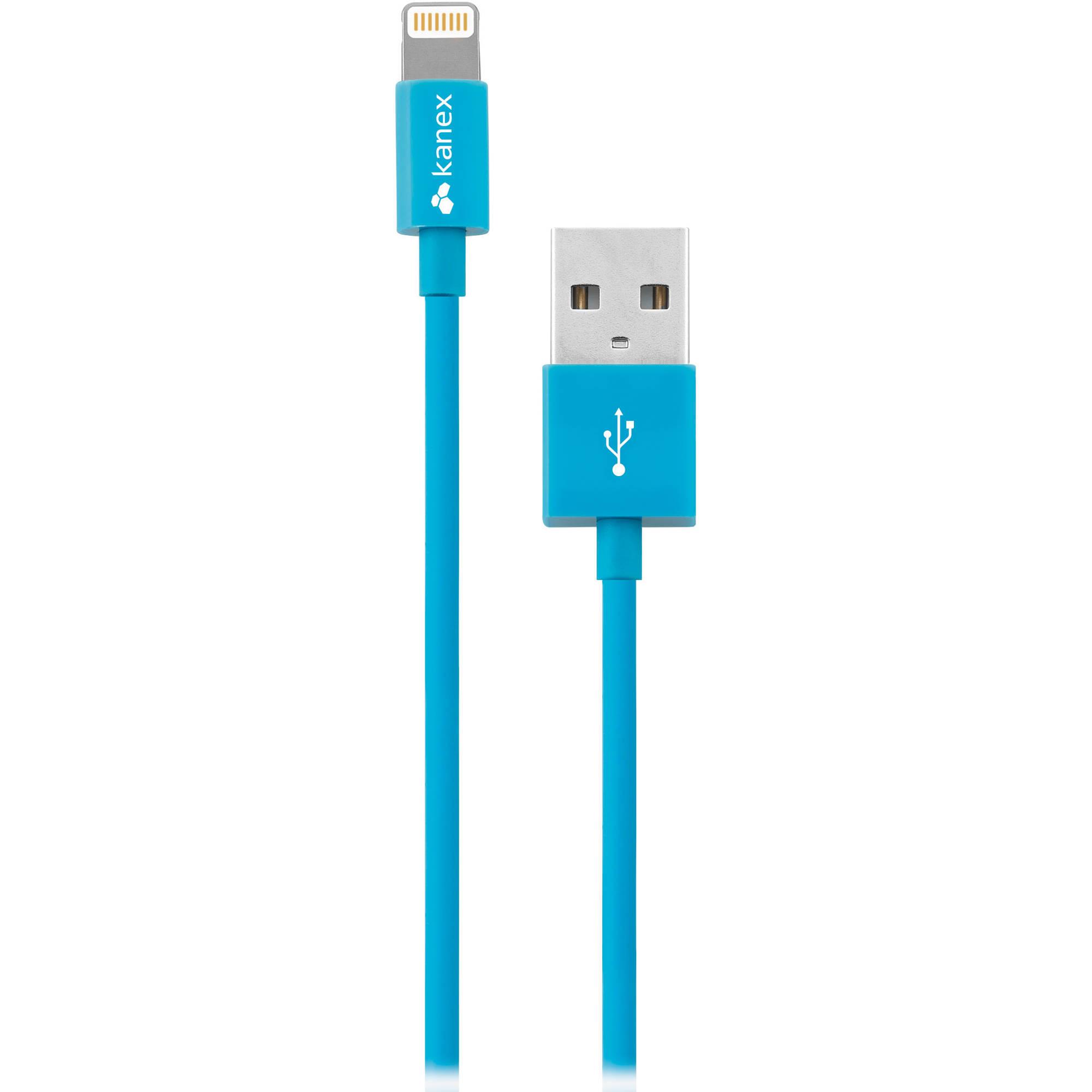 Kanex Lightning to USB Cable (4\', Blue) K8PIN4FBL B&H Photo