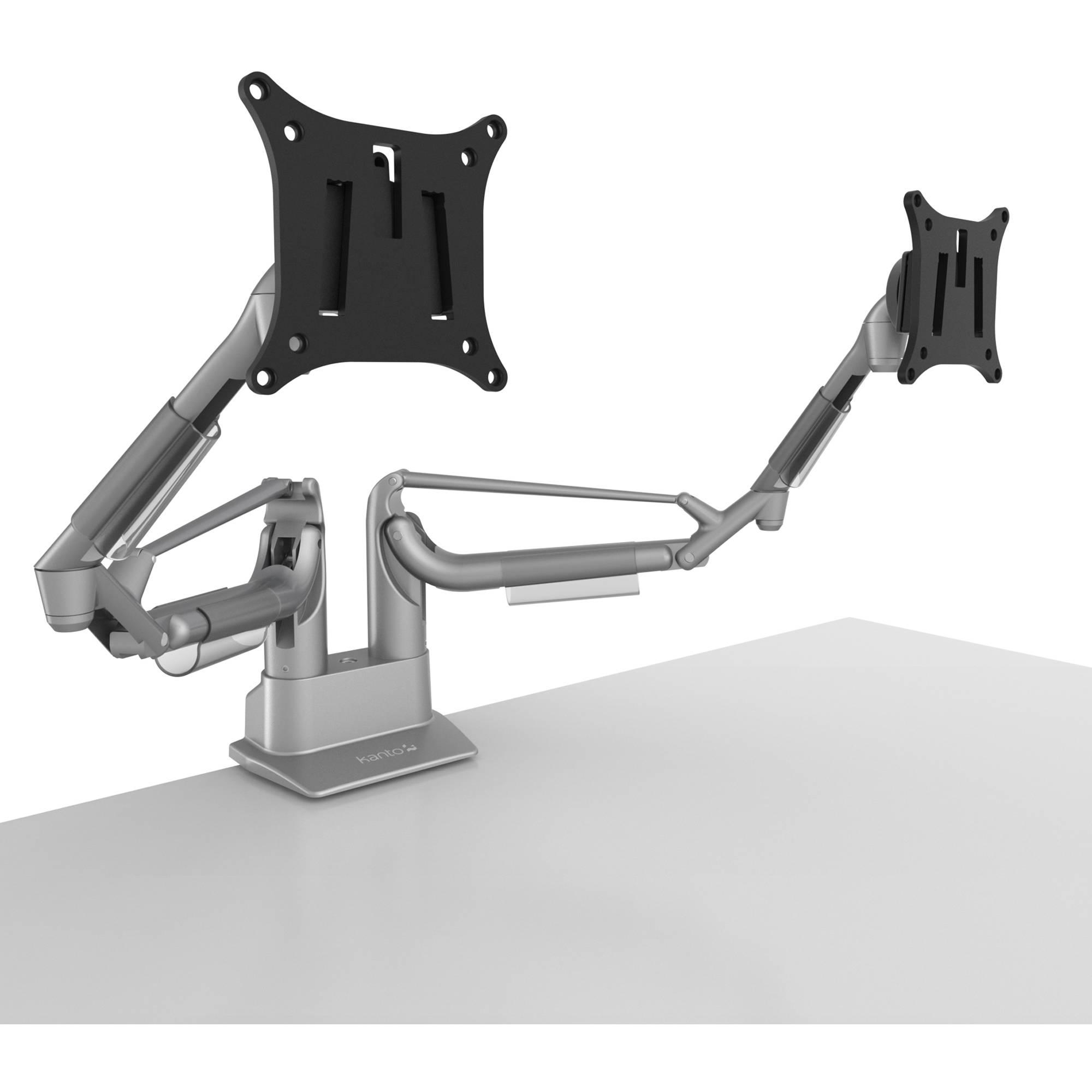 Kanto Living Dms2000 Dual Arm Desktop Monitor Mount Silver
