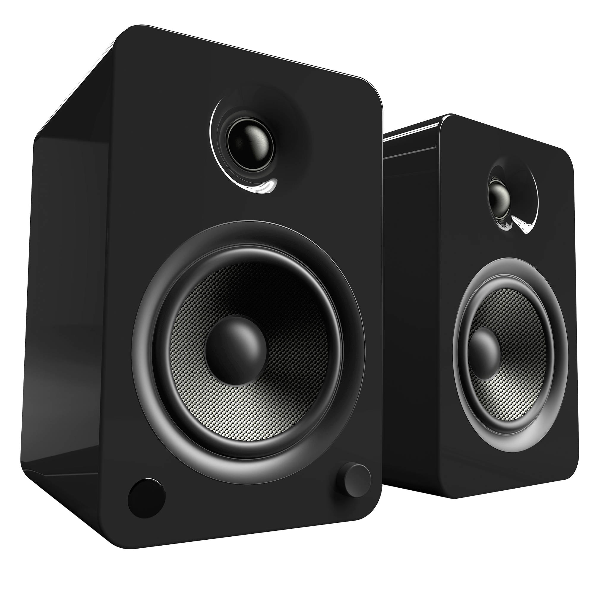 Kanto Living YU6 2 Way Powered Bookshelf Speakers Pair Gloss Black