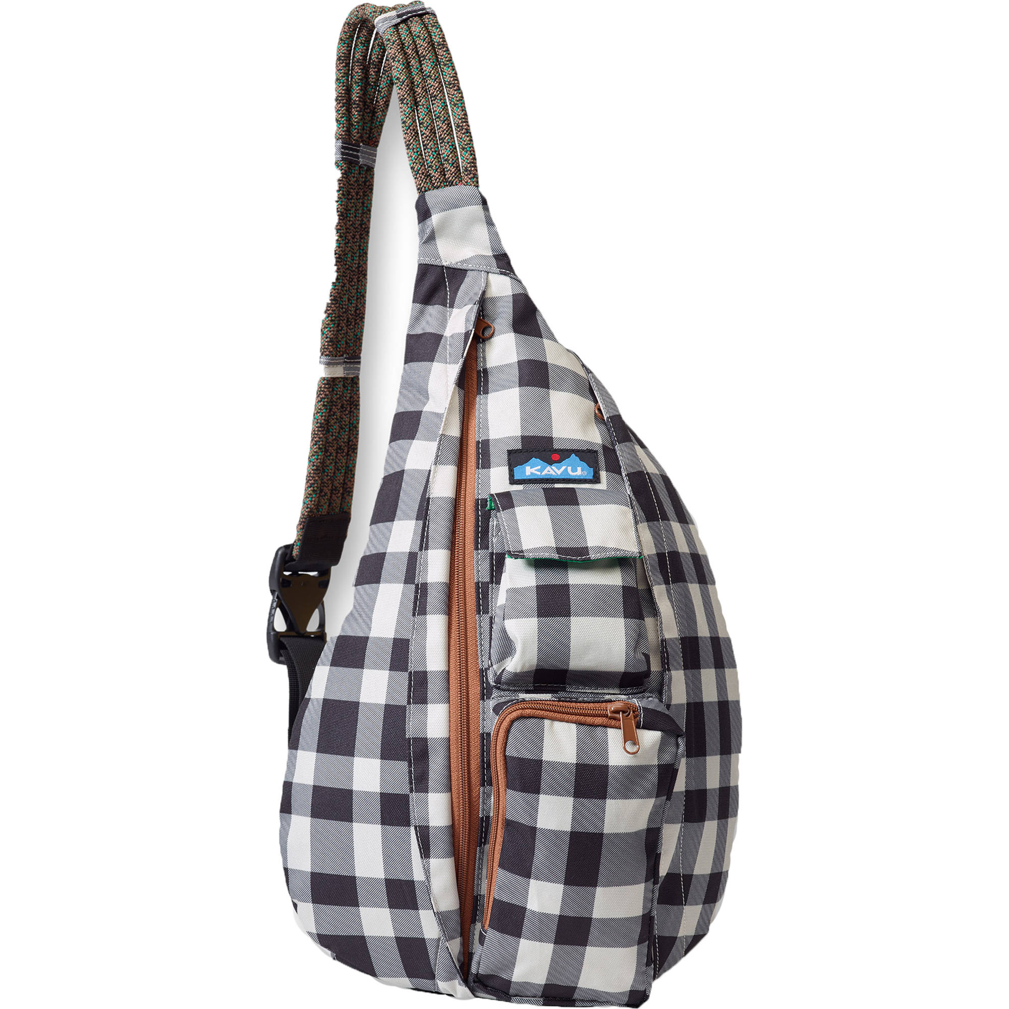 Kavu Rope Sling Bag Bw Plaid