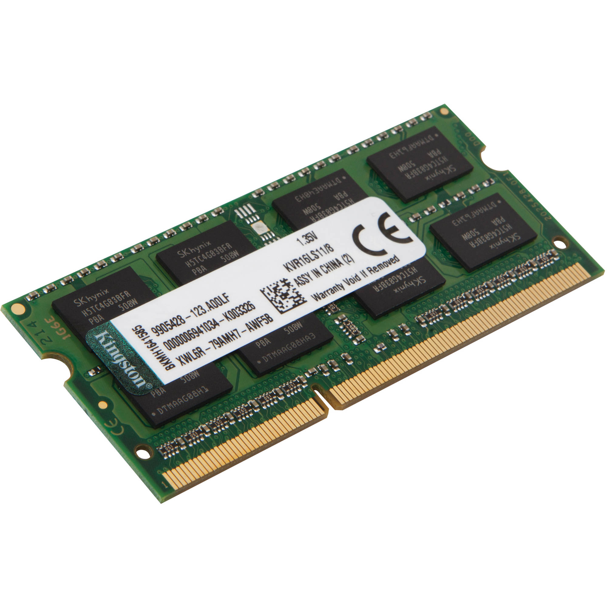Kingston 8GB DDR3L 1600 MHz SODIMM Memory Module KVR16LS11