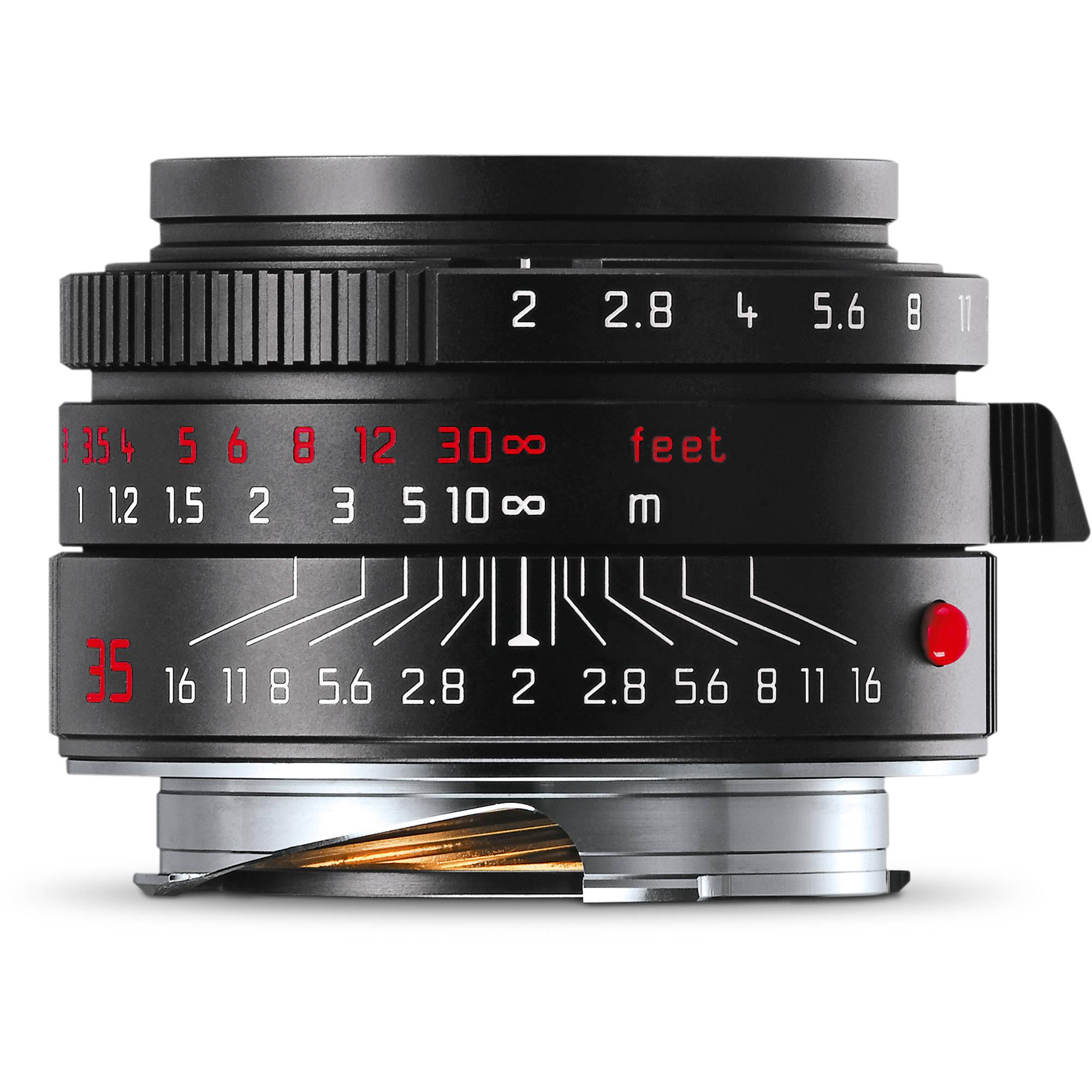 Leica Summicron-M 35mm f/2 ASPH. Lens (Black-Chrome Edition