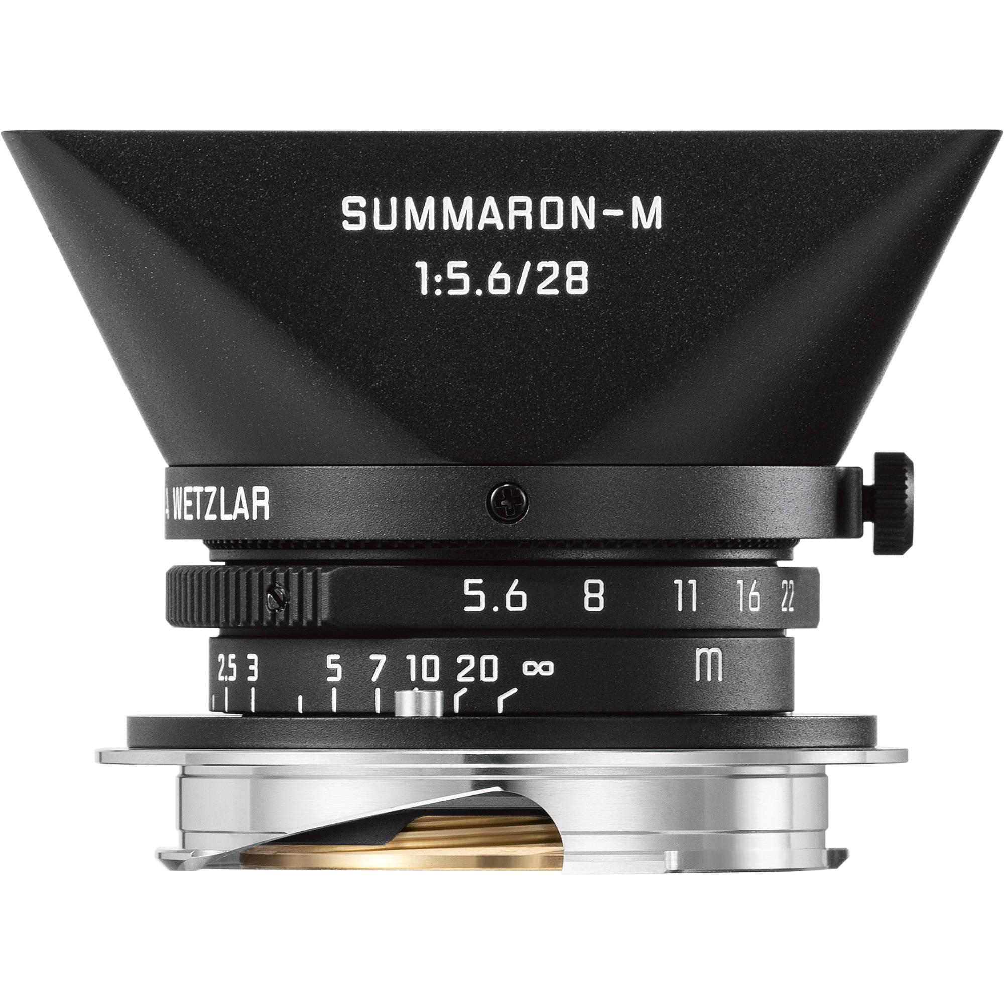 e329d86d61ae Leica Summaron-M 28mm f 5.6 Lens (Matte Black Paint) 11928 B H