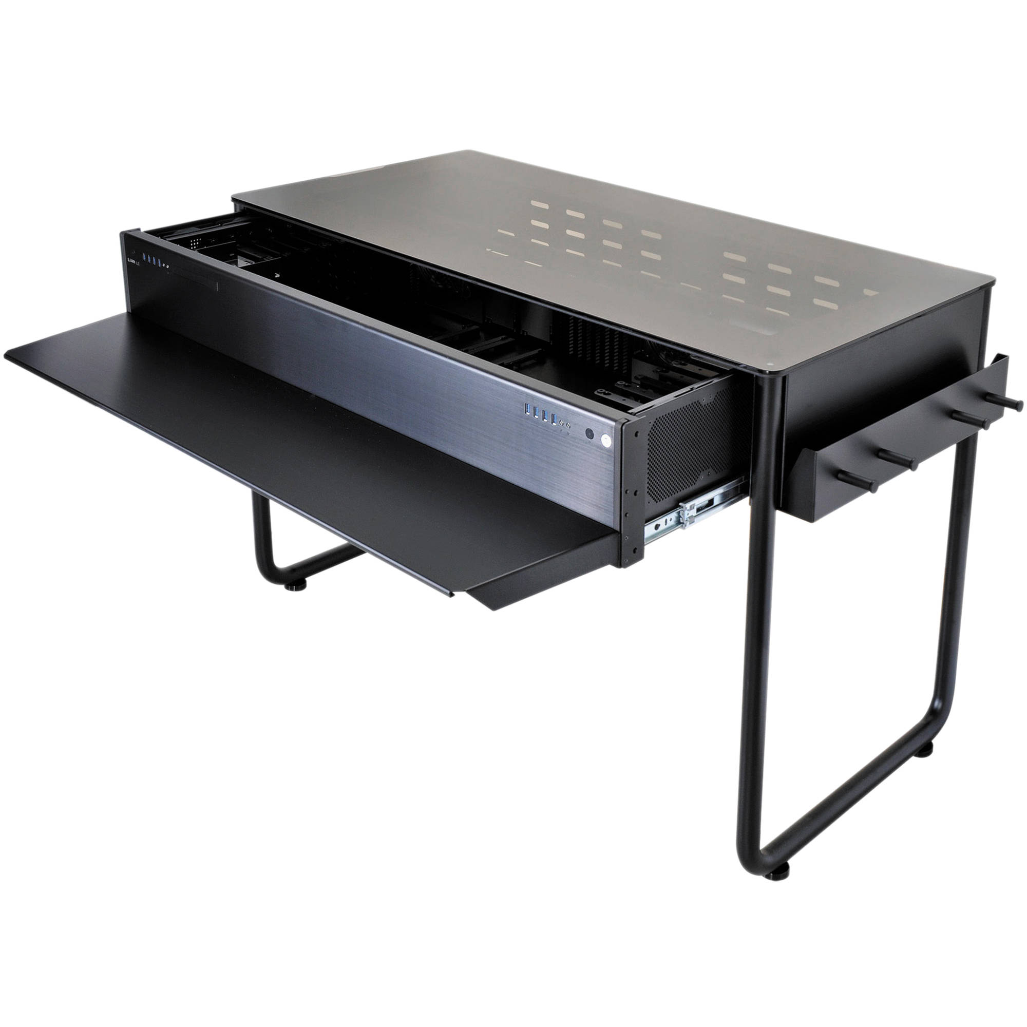 Lian Li Dk 02x Aluminum Computer Desk Black B Amp H Photo