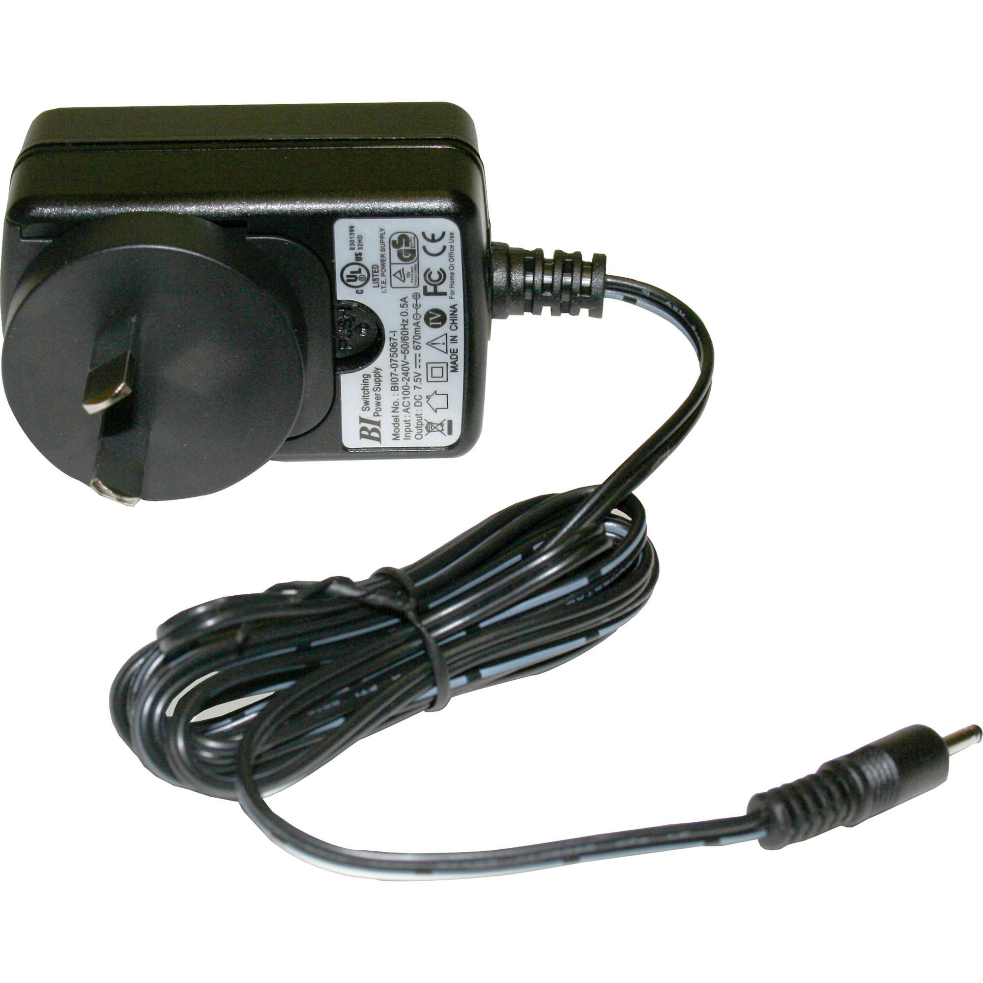 listen technologies la 208 01 7 5 vdc power charging la 208 01