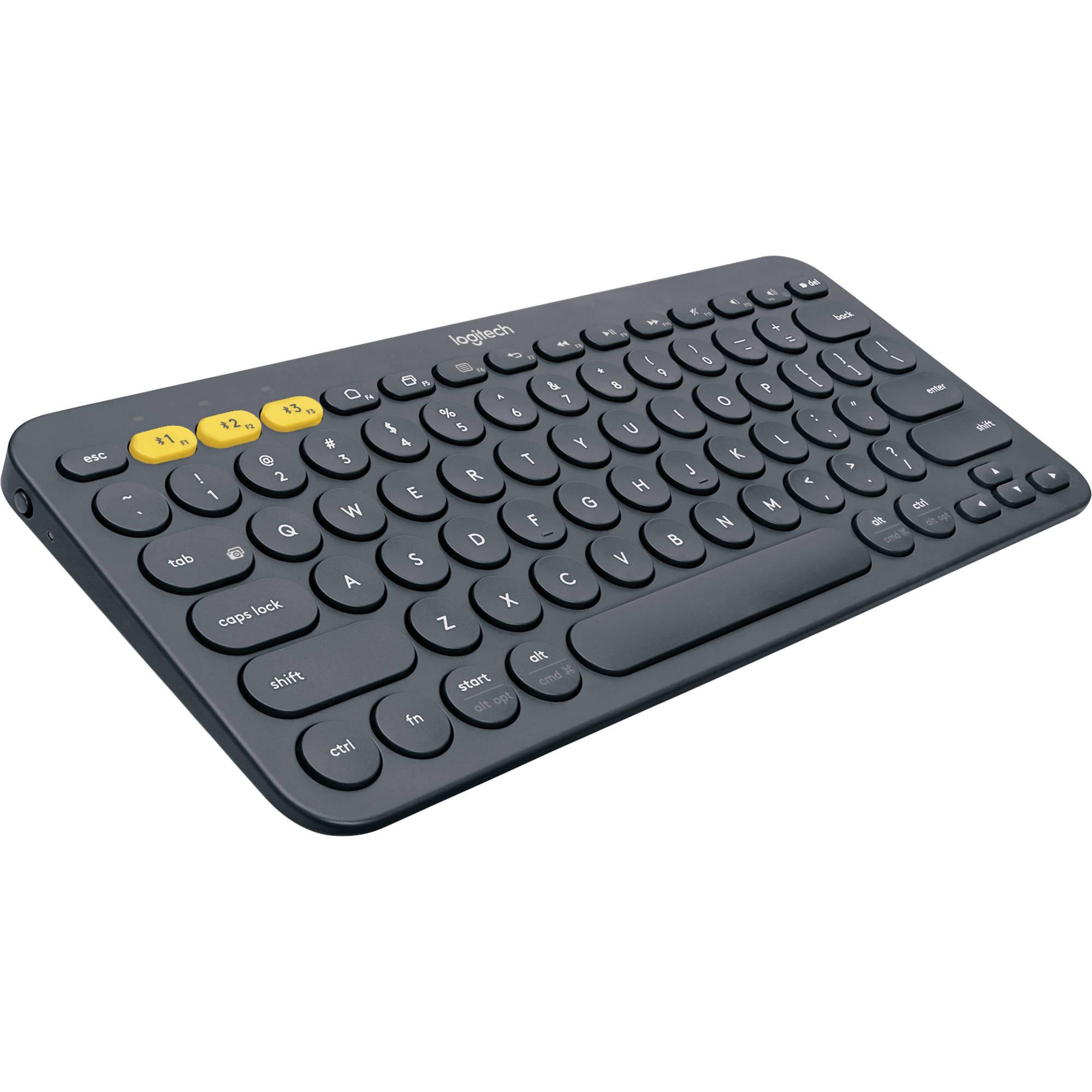 Logitech K380 Bluetooth Keyboard Black 920 007558 B H Photo