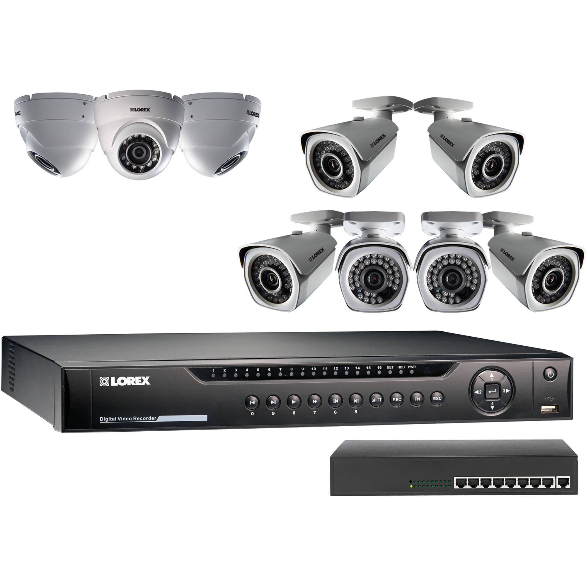 Lorex Lnr400 Series 16 Channel 1080p Nvr Kit With 6