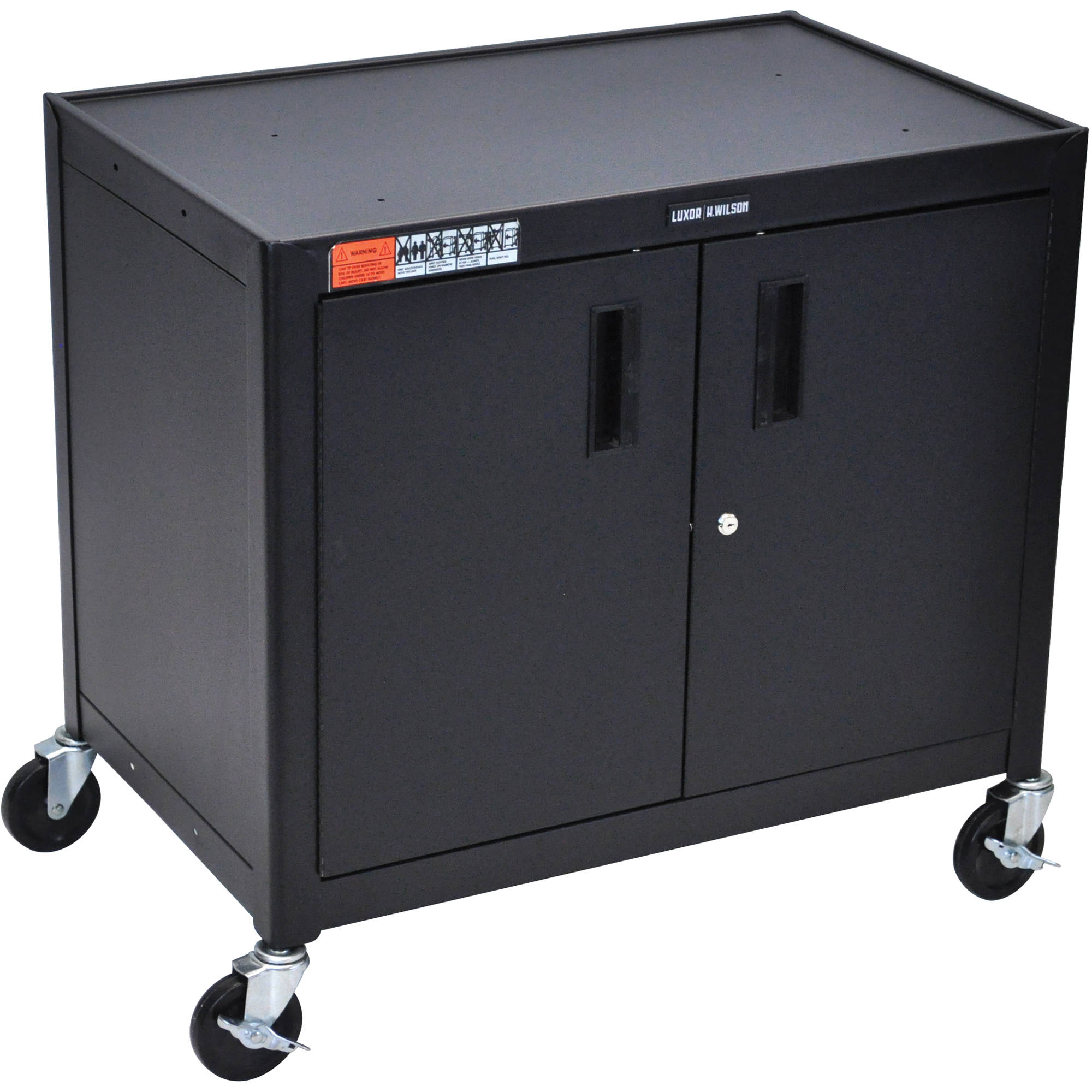 Luxor Av30xlc Steel Mobile Cabinet Cart Av30xlc B Amp H Photo