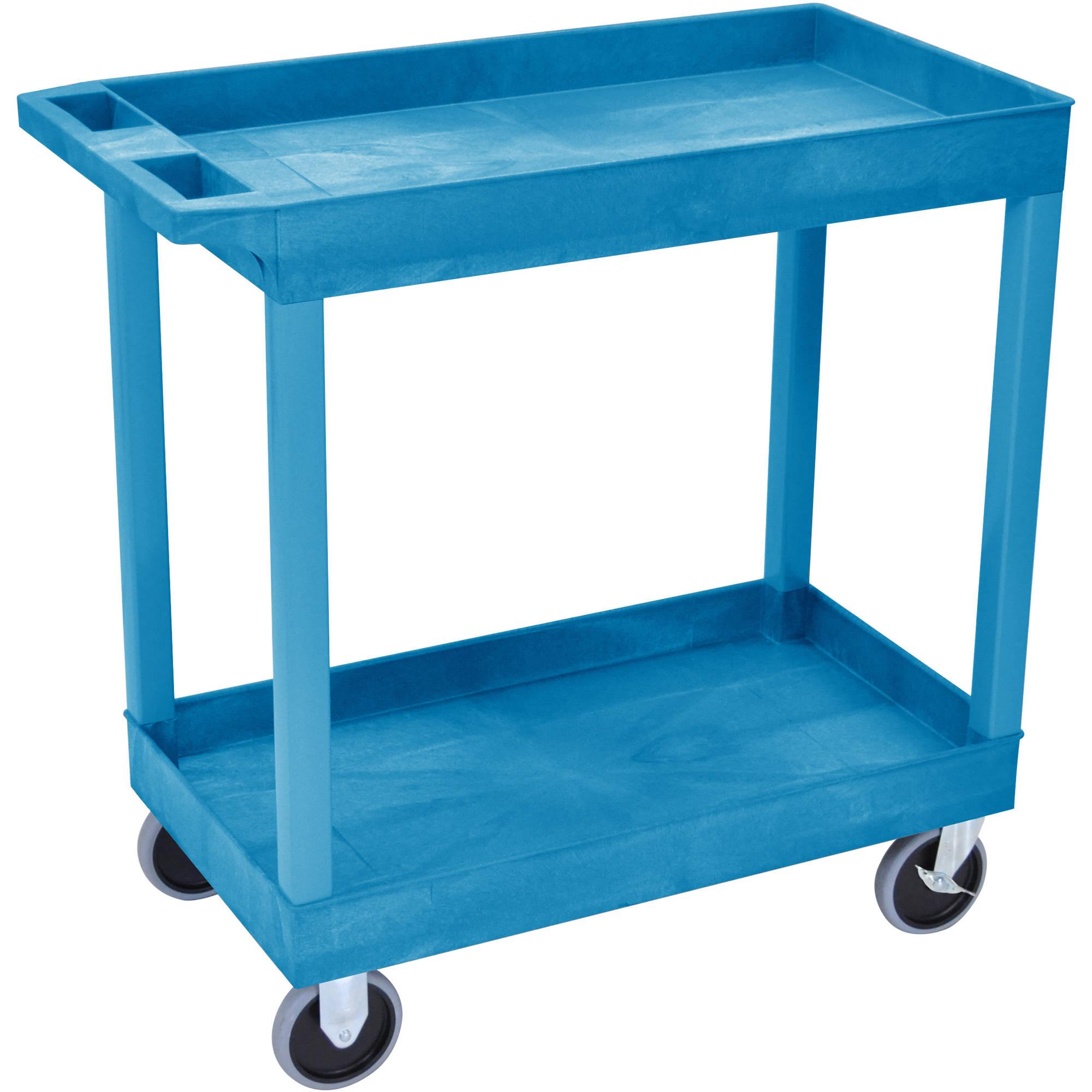 Luxor 32 x 18 Tub Cart with Two Shelves EC11HDBU BH