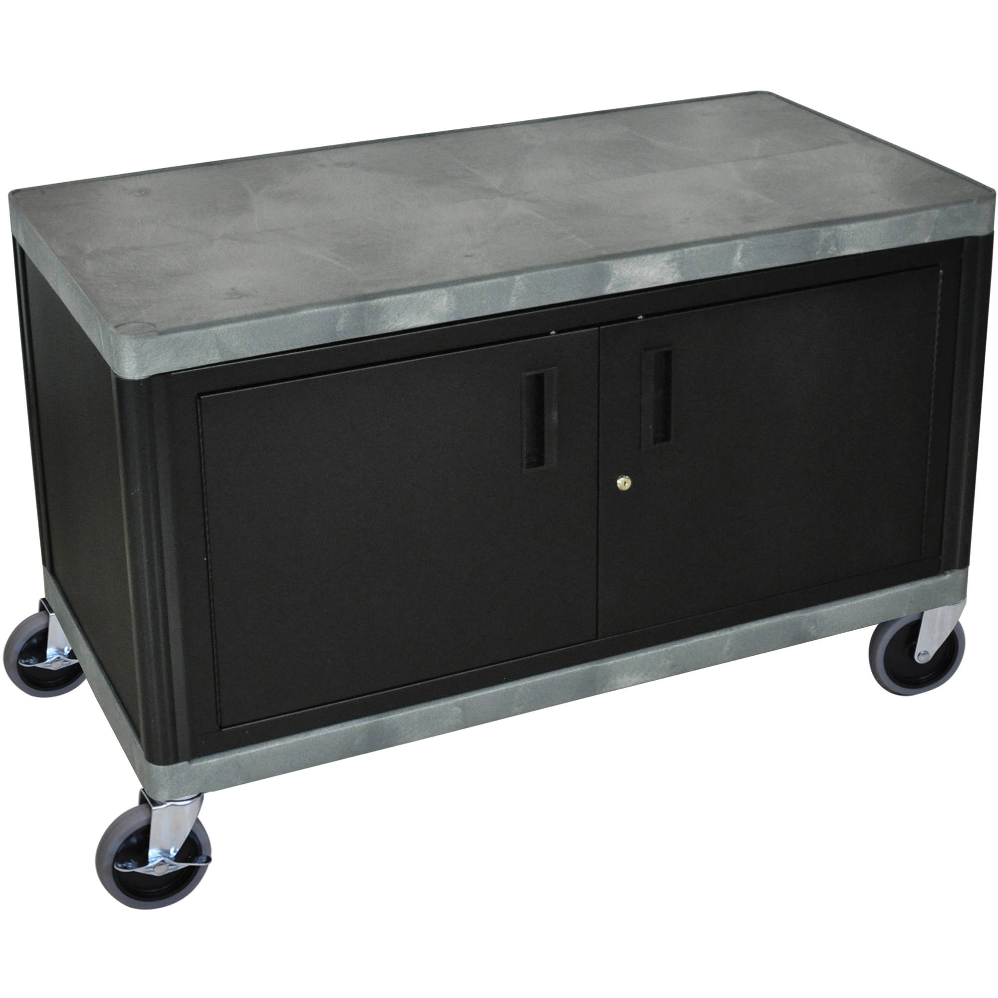 Luxor Kitchen Cabinets: Luxor HEW335C-G Industrial Cart (Cabinet, Grey) HEW335C-G B&H
