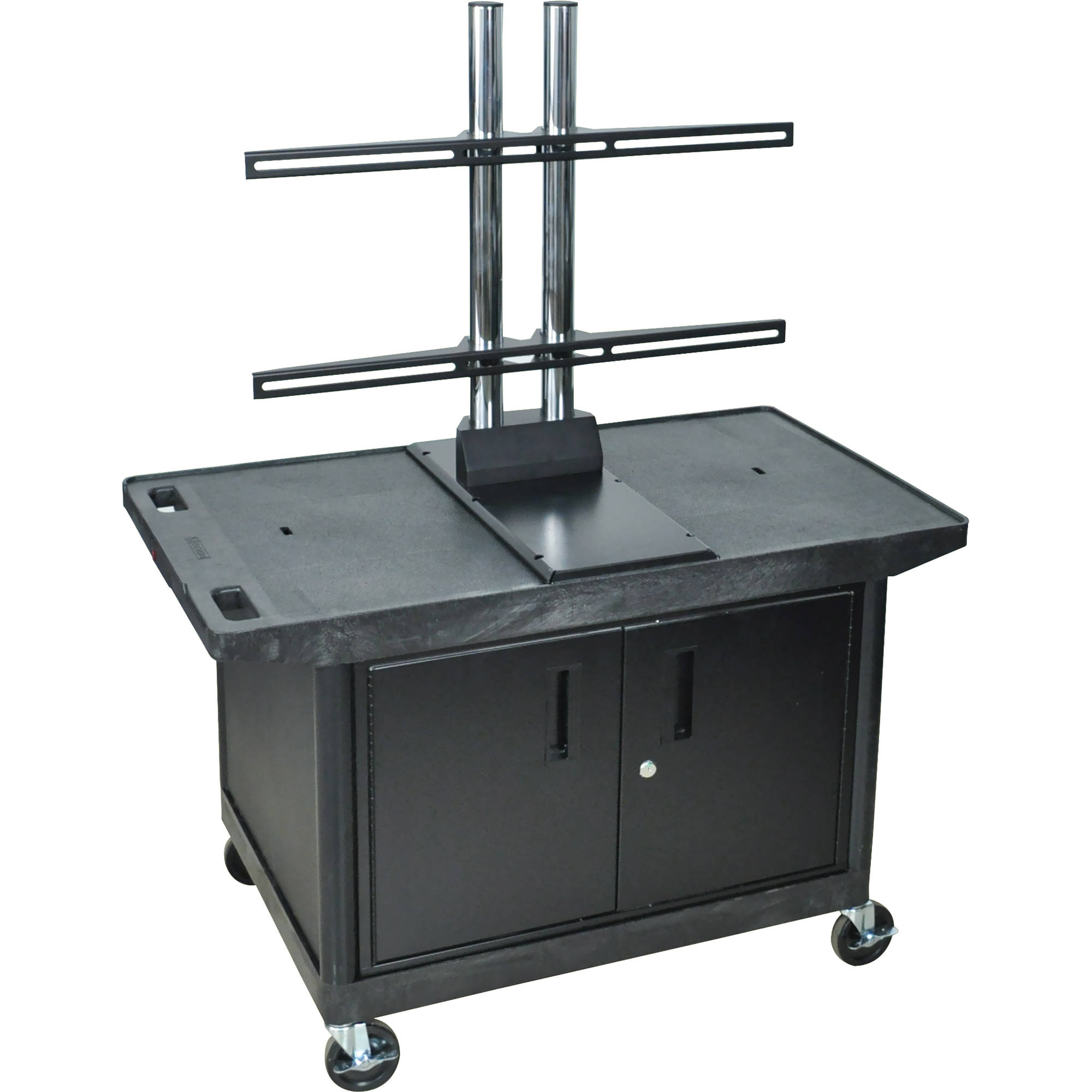 Luxor Kitchen Cabinets: Luxor Cabinet A/V Cart With Wide Top & LE27C2WTUD-B B&H