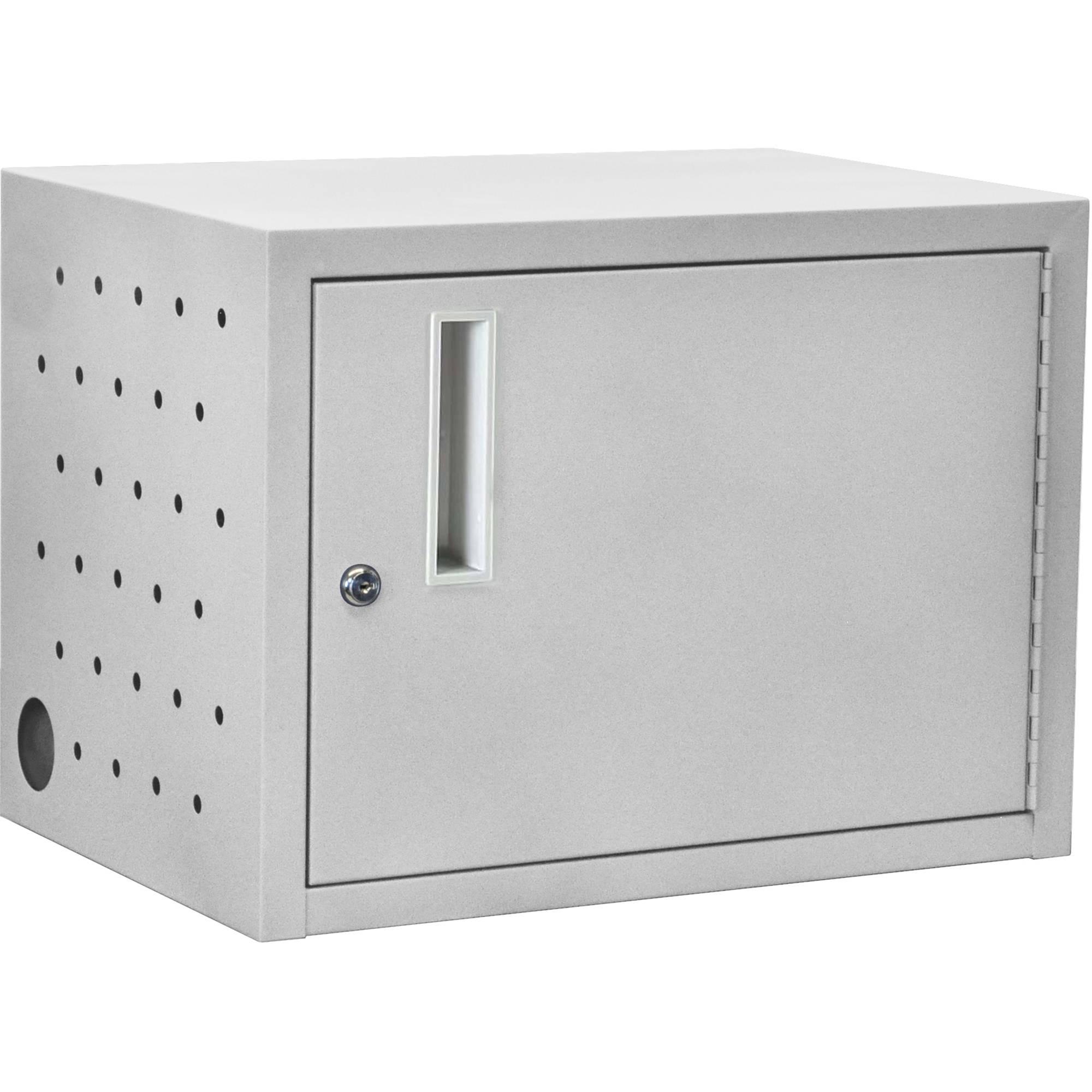Luxor 12 Tablet Wall Desk Charging Box Gray