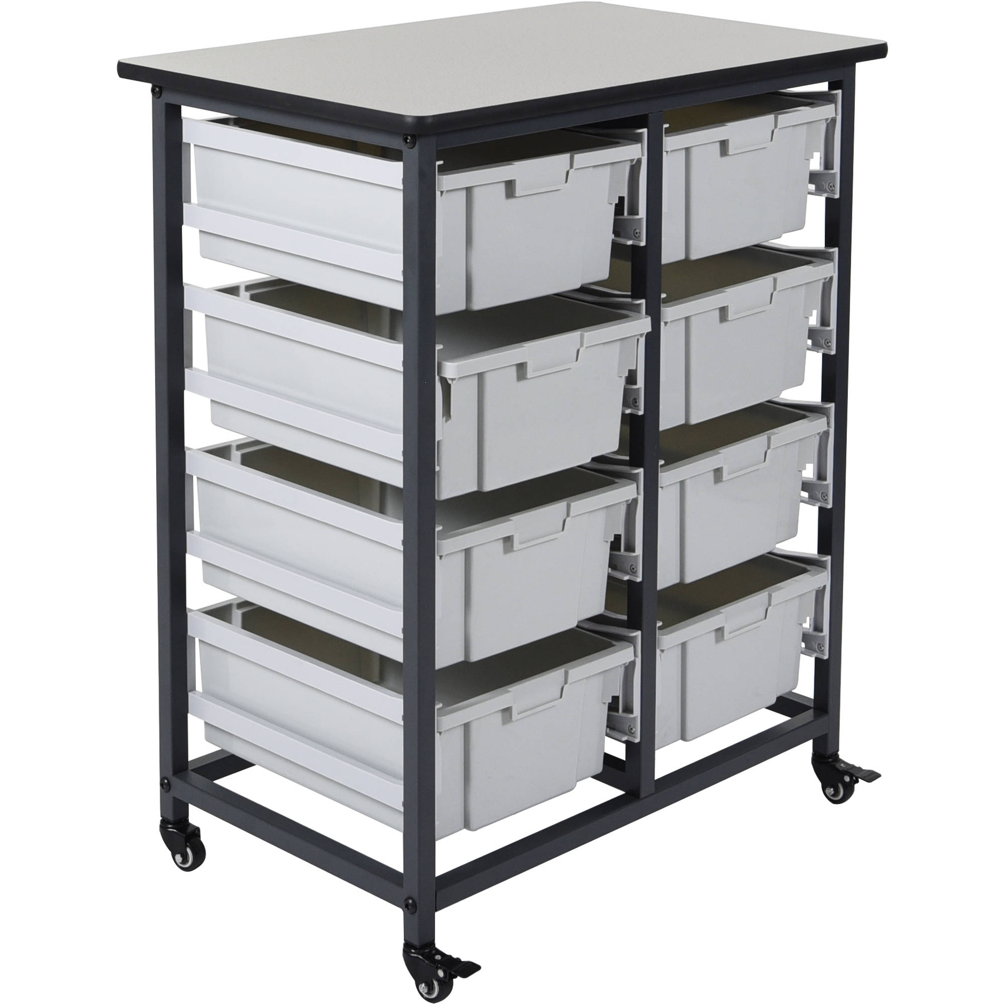 Delicieux Luxor Double Row Mobile Bin Storage Unit (Large Bins)