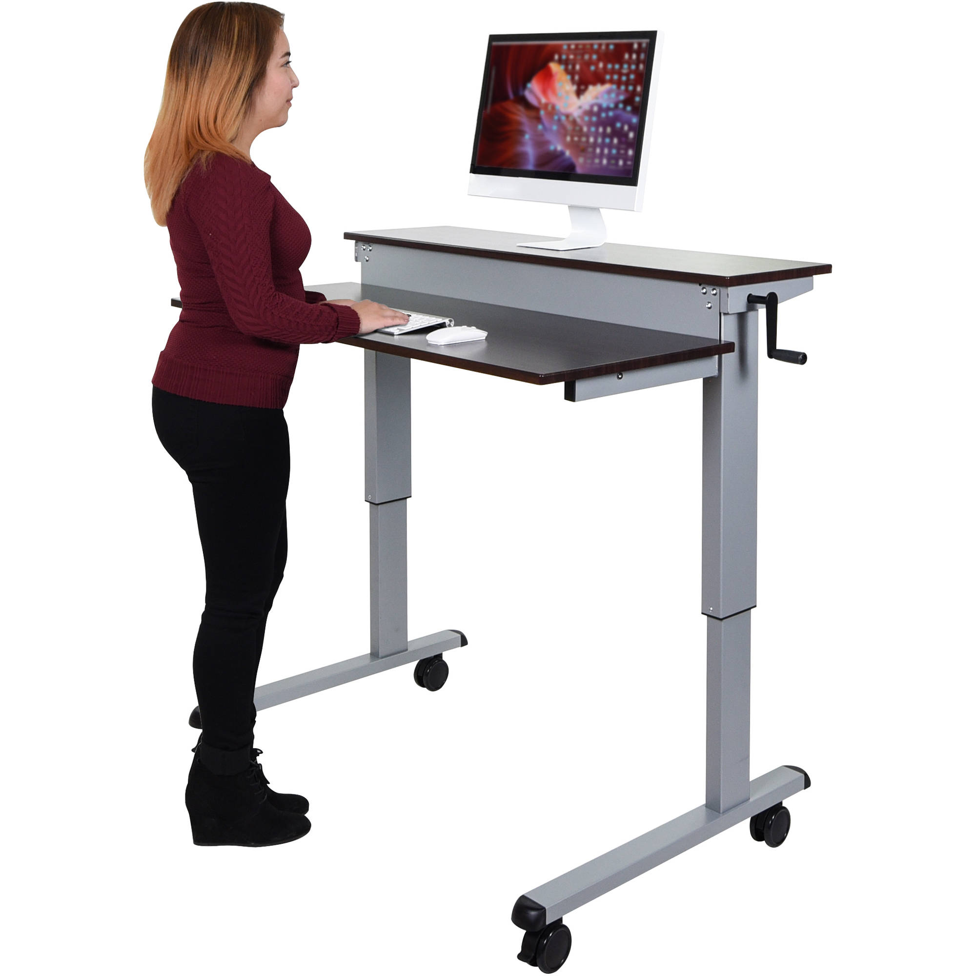 products edit luxor goergonomic adjustable stand tk up bk desk crank