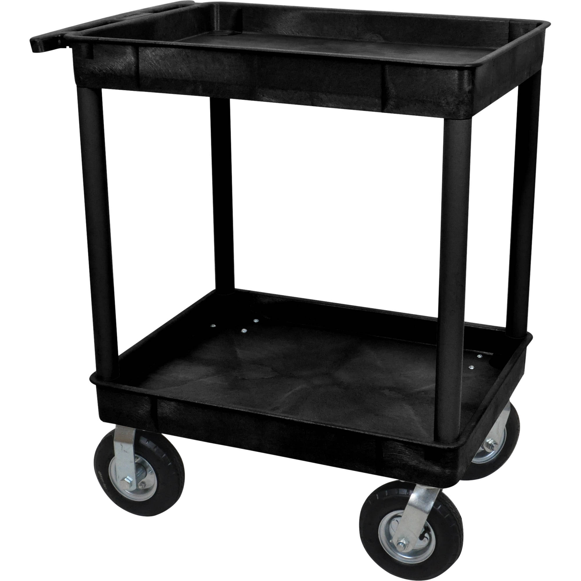 Luxor Large Tub Cart with Two Tub Shelves and Four TC11P8-B B&H