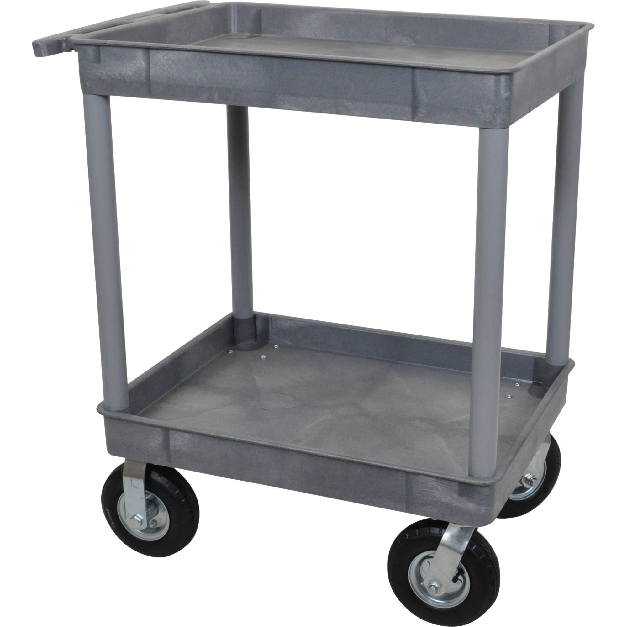 Luxor Large Tub Cart with Two Tub Shelves and Four TC11P8-G B&H