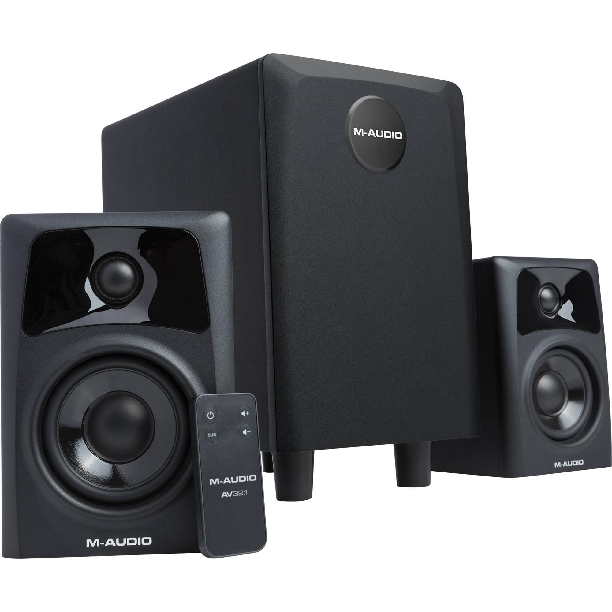 m audio av32 1 dual speaker subwoofer system av32 1 b h. Black Bedroom Furniture Sets. Home Design Ideas