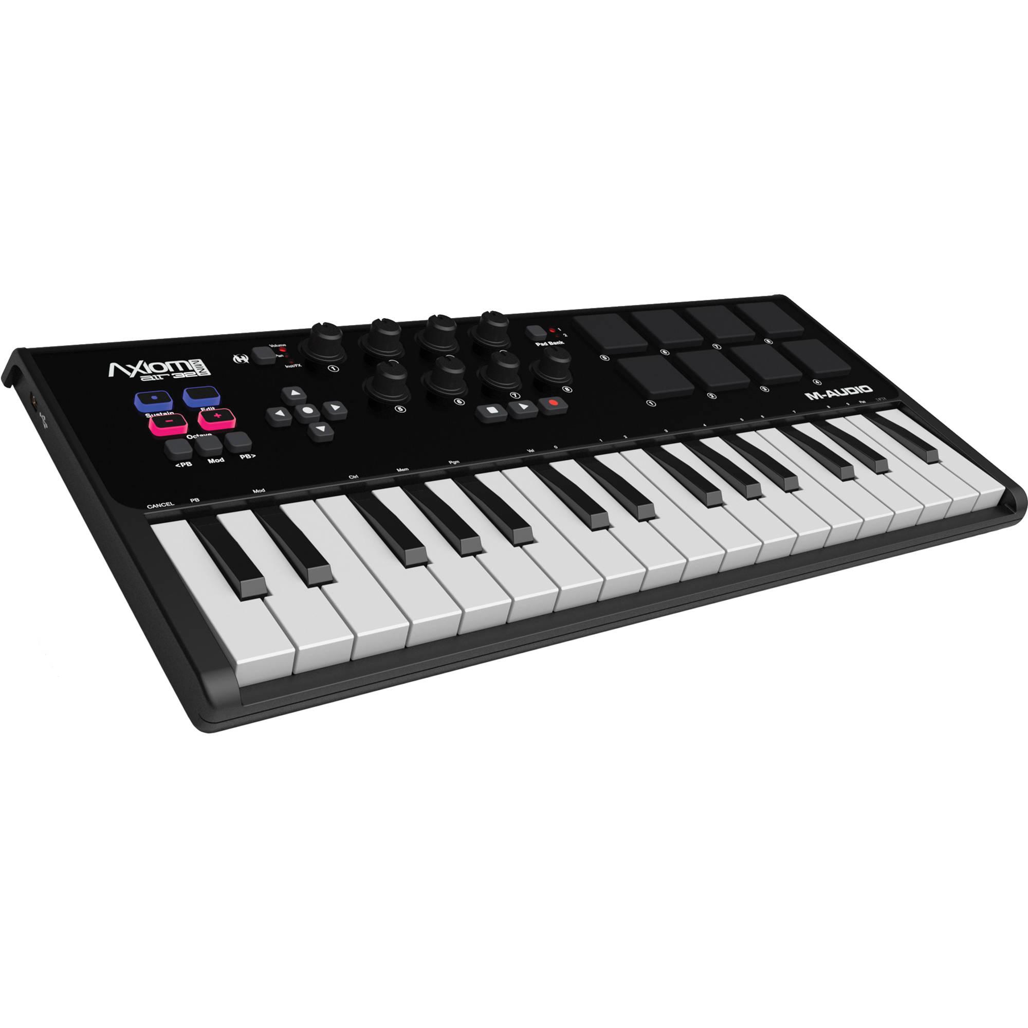 m audio axiom air mini 32 usb midi keyboard axiomairmini32 b h. Black Bedroom Furniture Sets. Home Design Ideas