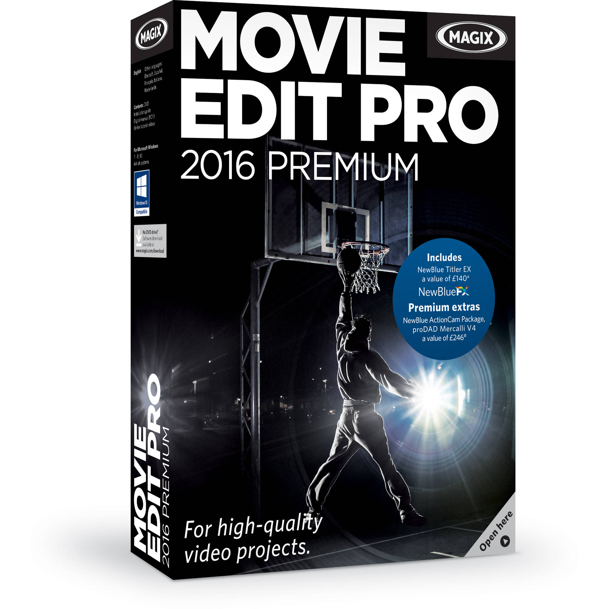 Magix entertainment movie edit pro premium box for Magix movie edit pro templates