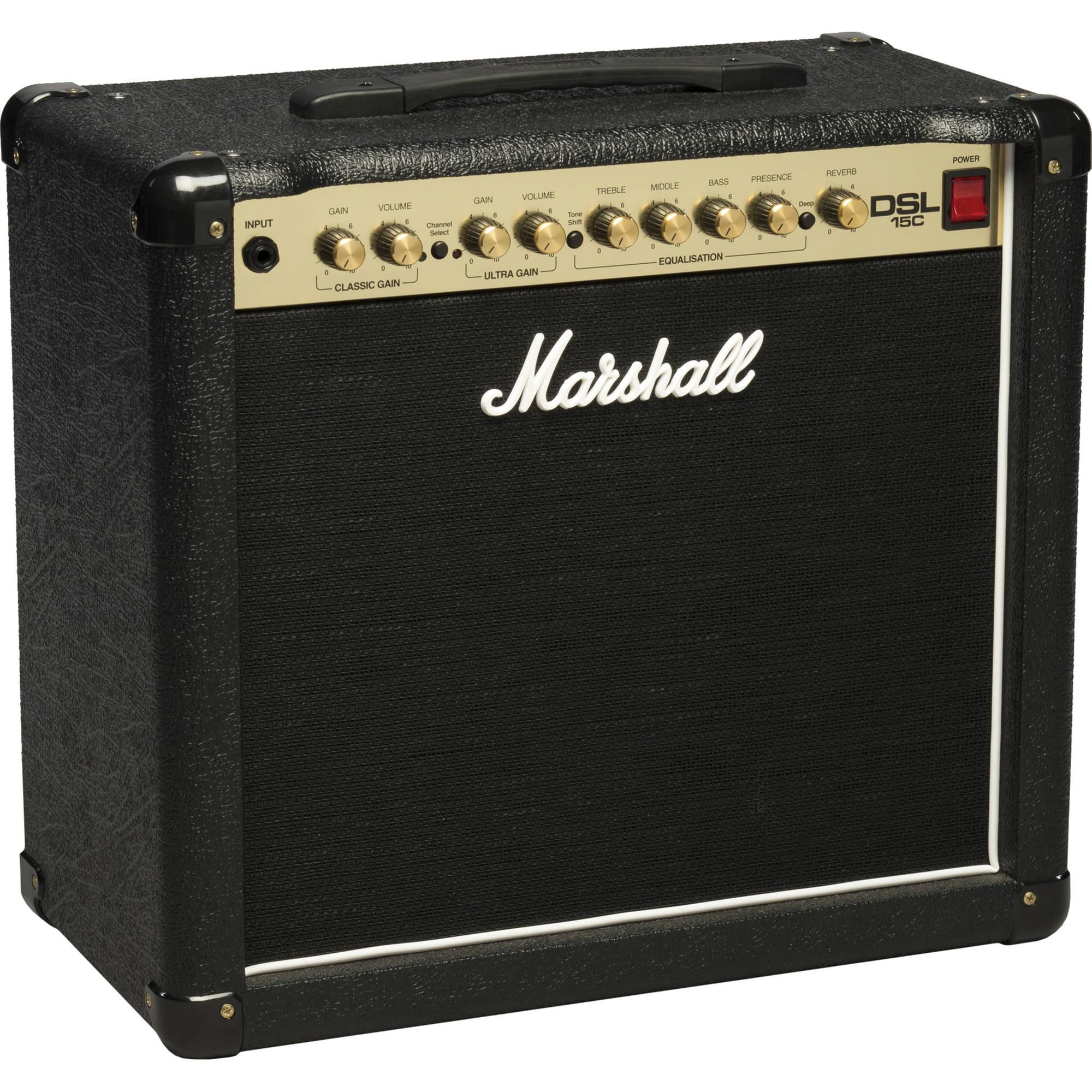 marshall amplification dsl15c 2 channel valve combo dsl15c u b h. Black Bedroom Furniture Sets. Home Design Ideas
