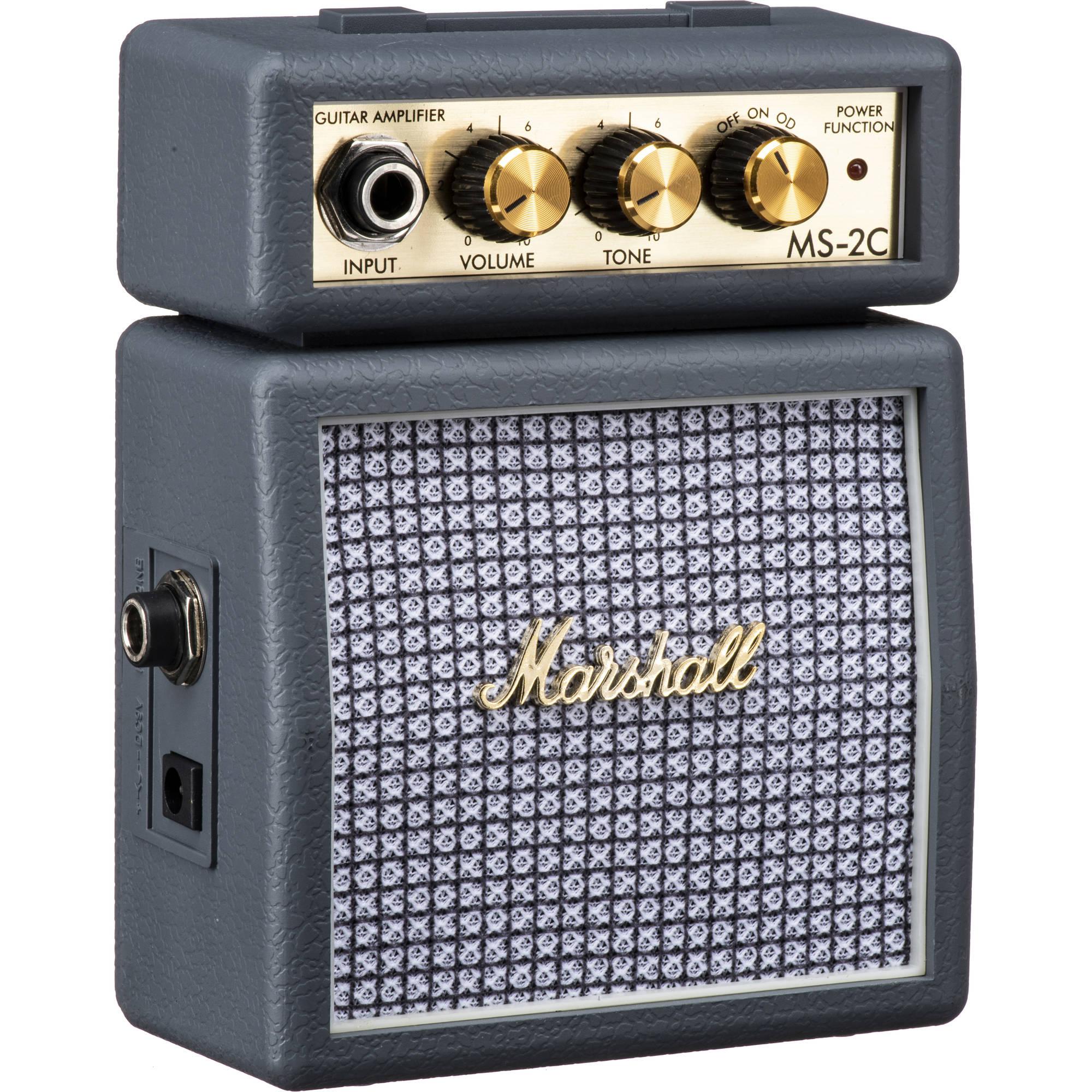 marshall amplification ms 2c micro amp mini practice amp ms 2c rh bhphotovideo com Micro Audio Amplifier Cards DC Audio Micro Amplifiers