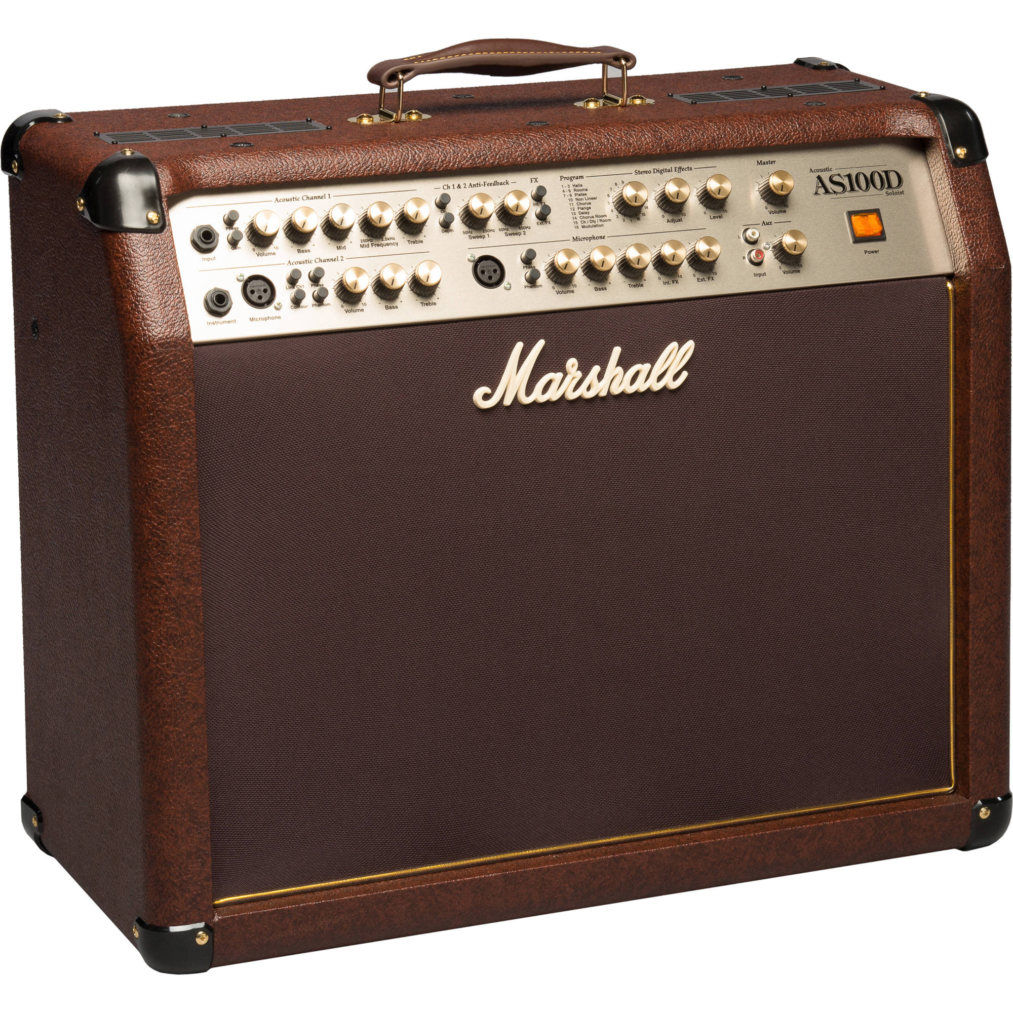 Marshall Amplification As100d 100w 4 Channel 2x8 Acoustic Rms Amplifier Circuit Guitar Combo With Digital Effects