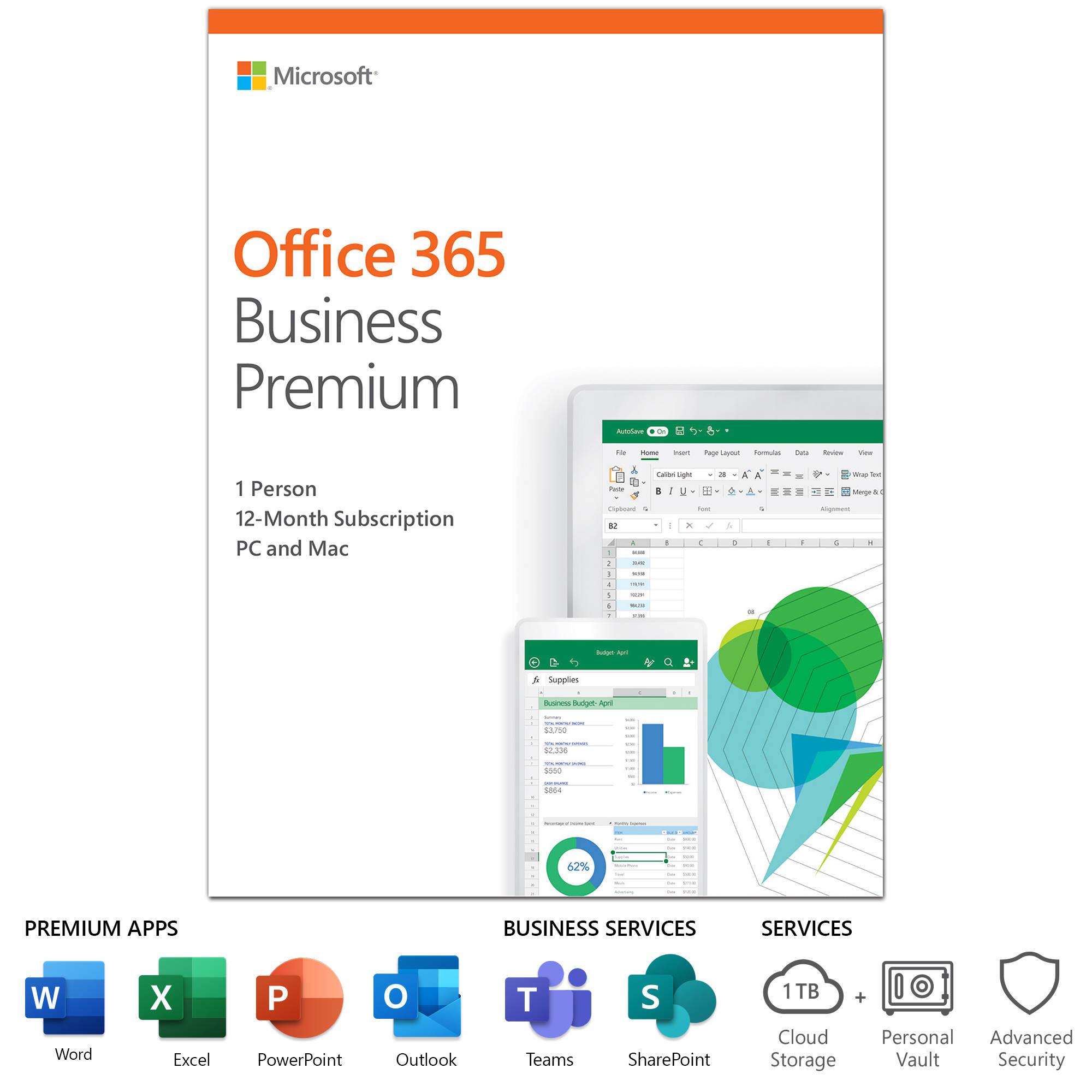Microsoft Office 365 Business Premium KLQ-00378 B&H Photo ...