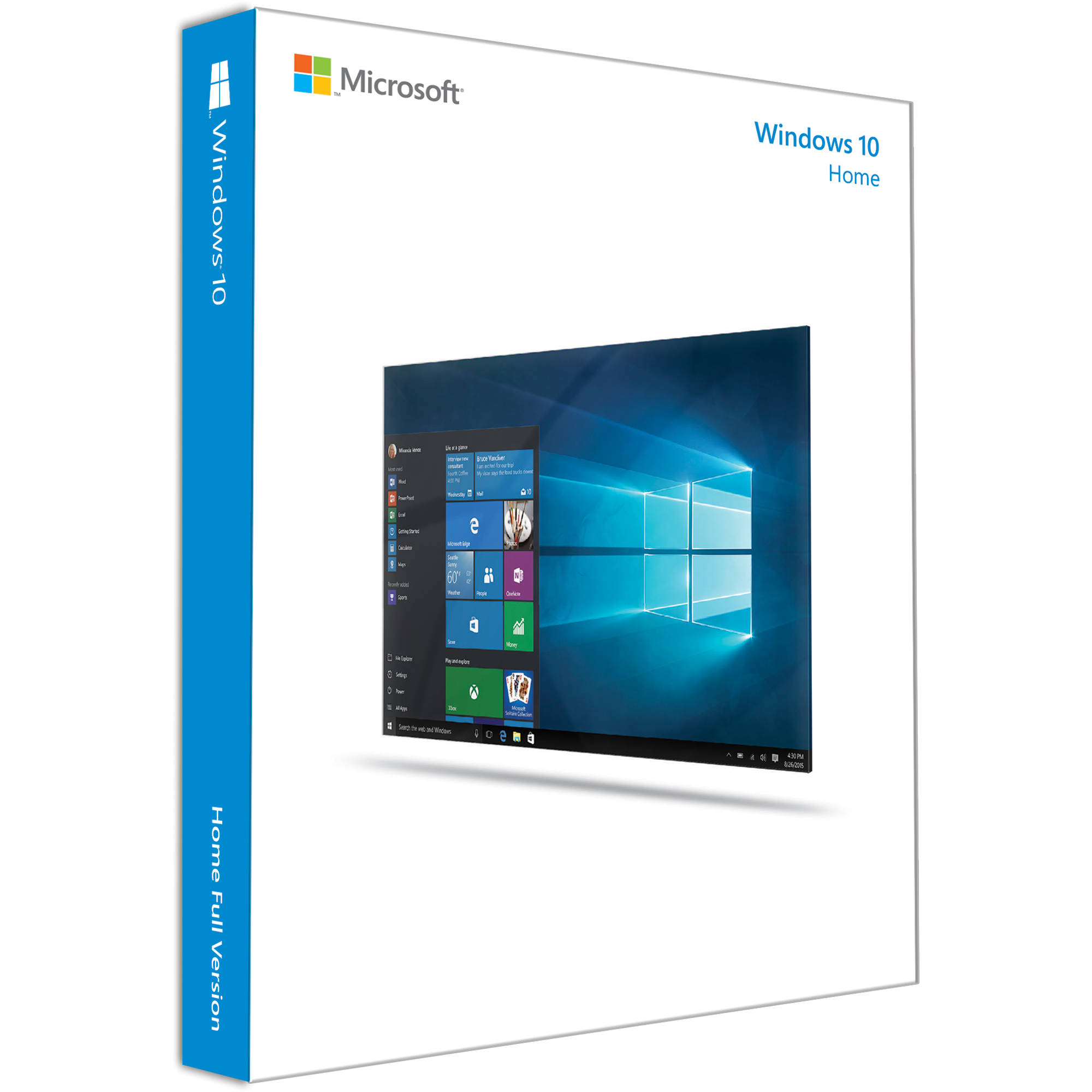 Microsoft Windows 10 Home 64 Bit Oem Dvd Kw9 00140 B H