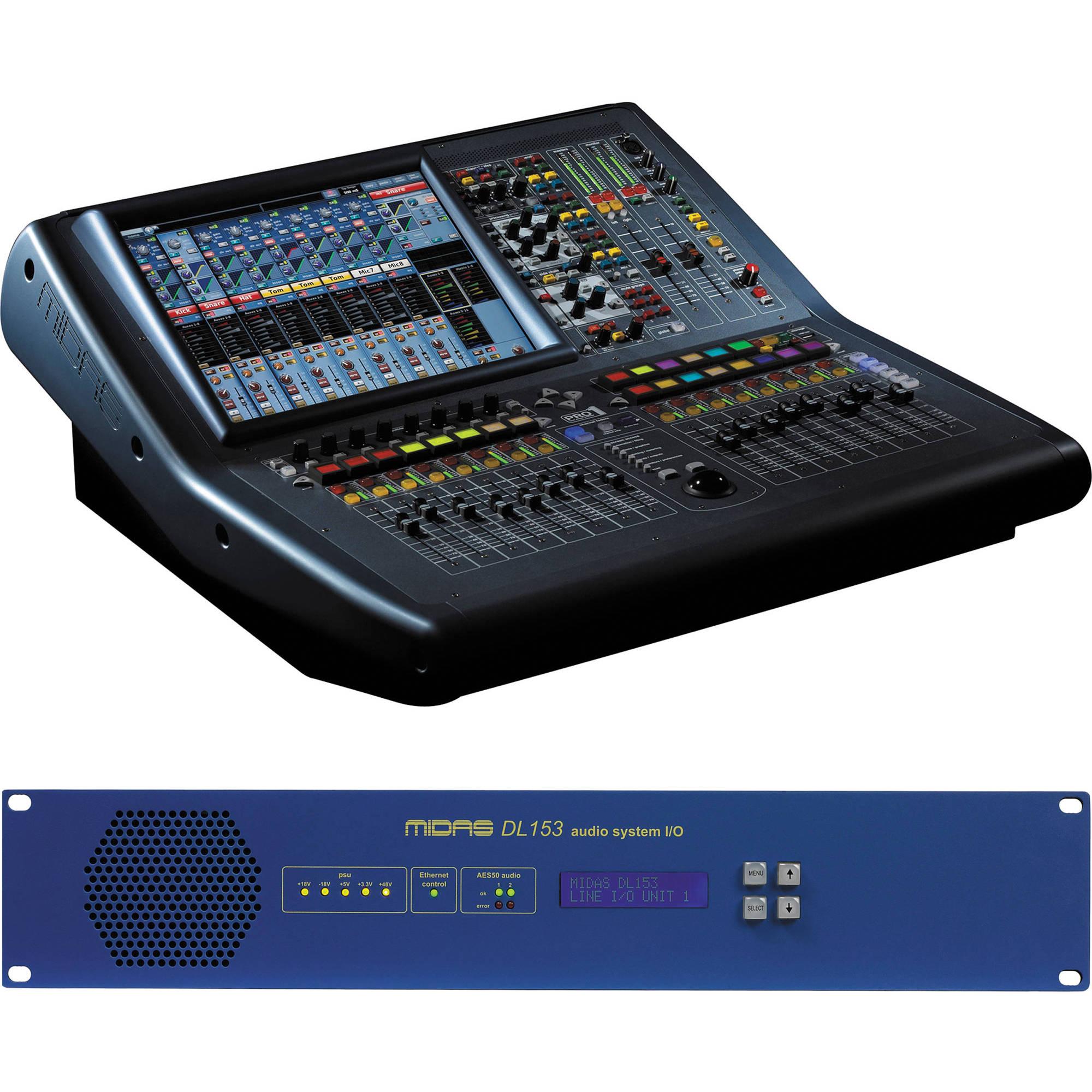midas pro1 live audio system with dl153 24 input stagebox kit. Black Bedroom Furniture Sets. Home Design Ideas
