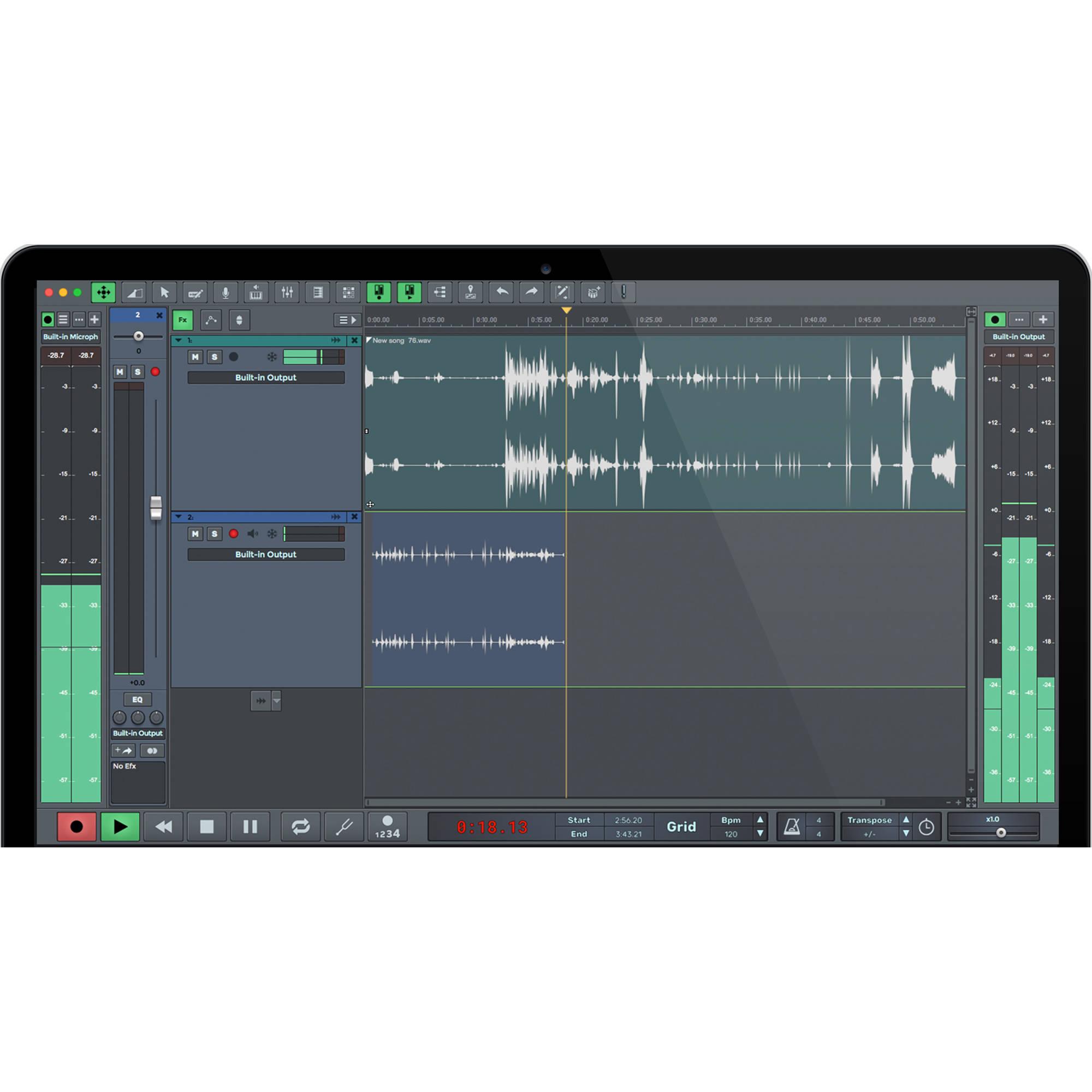 N track studio ex 7 professional daw audio 10 10247 b h for Recording studio design software