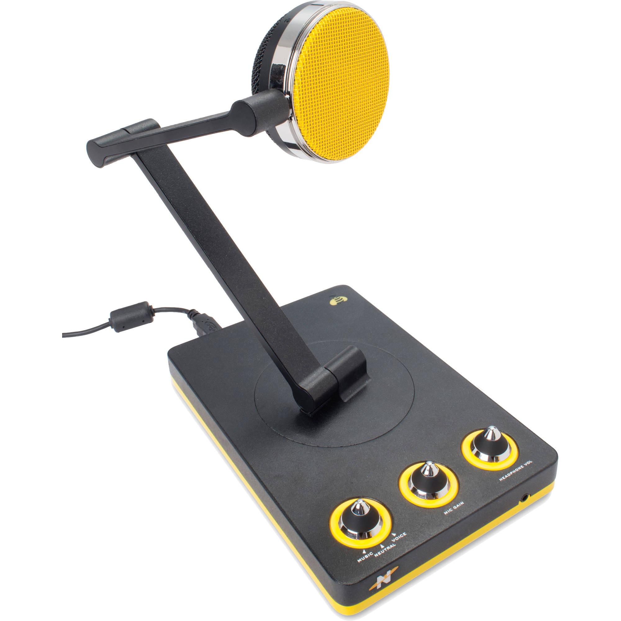 neat microphones bumblebee desktop multi pattern usb mic bbdu. Black Bedroom Furniture Sets. Home Design Ideas