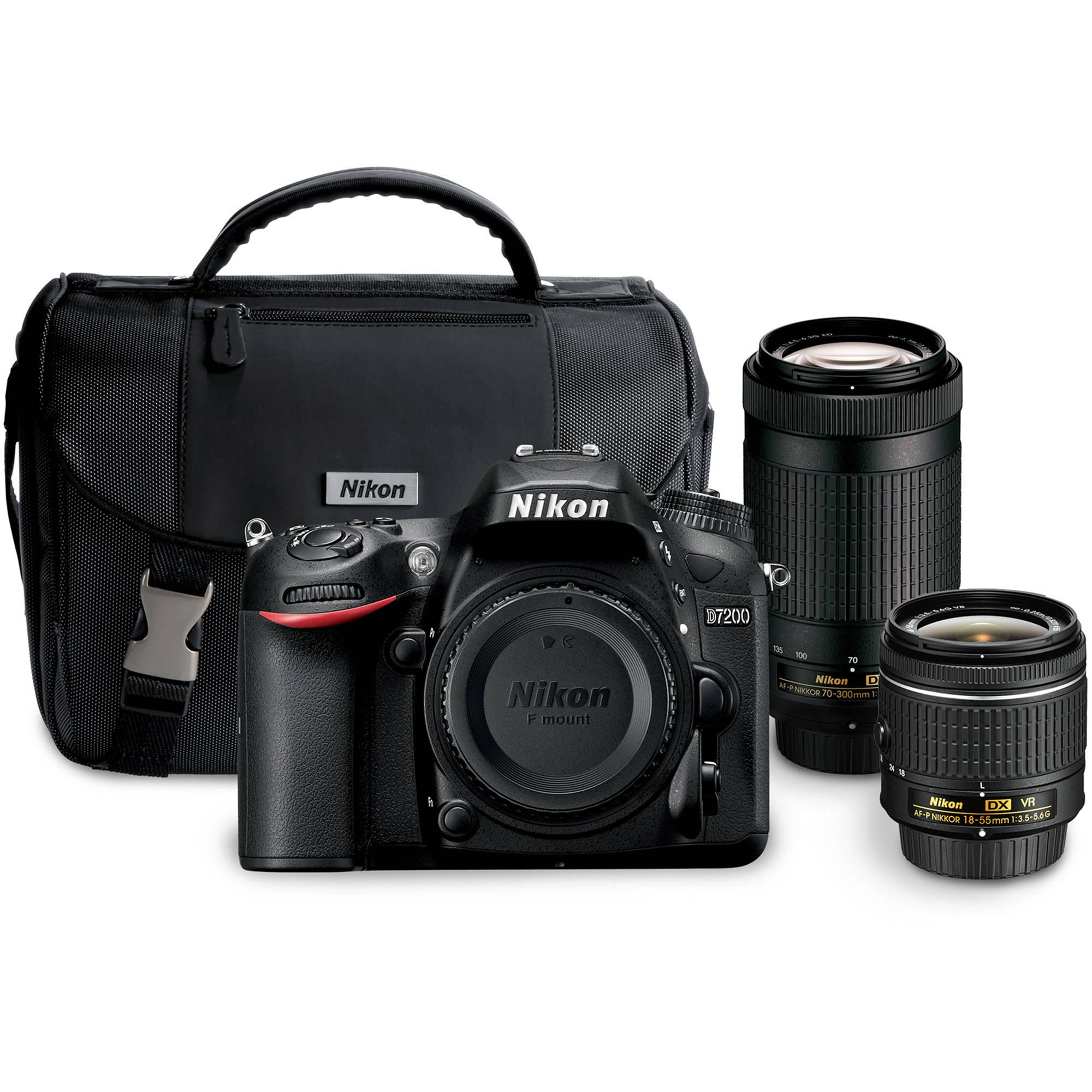 Nikon D7200 Dslr Camera With 18 55mm And 70 300mm Lenses Kit