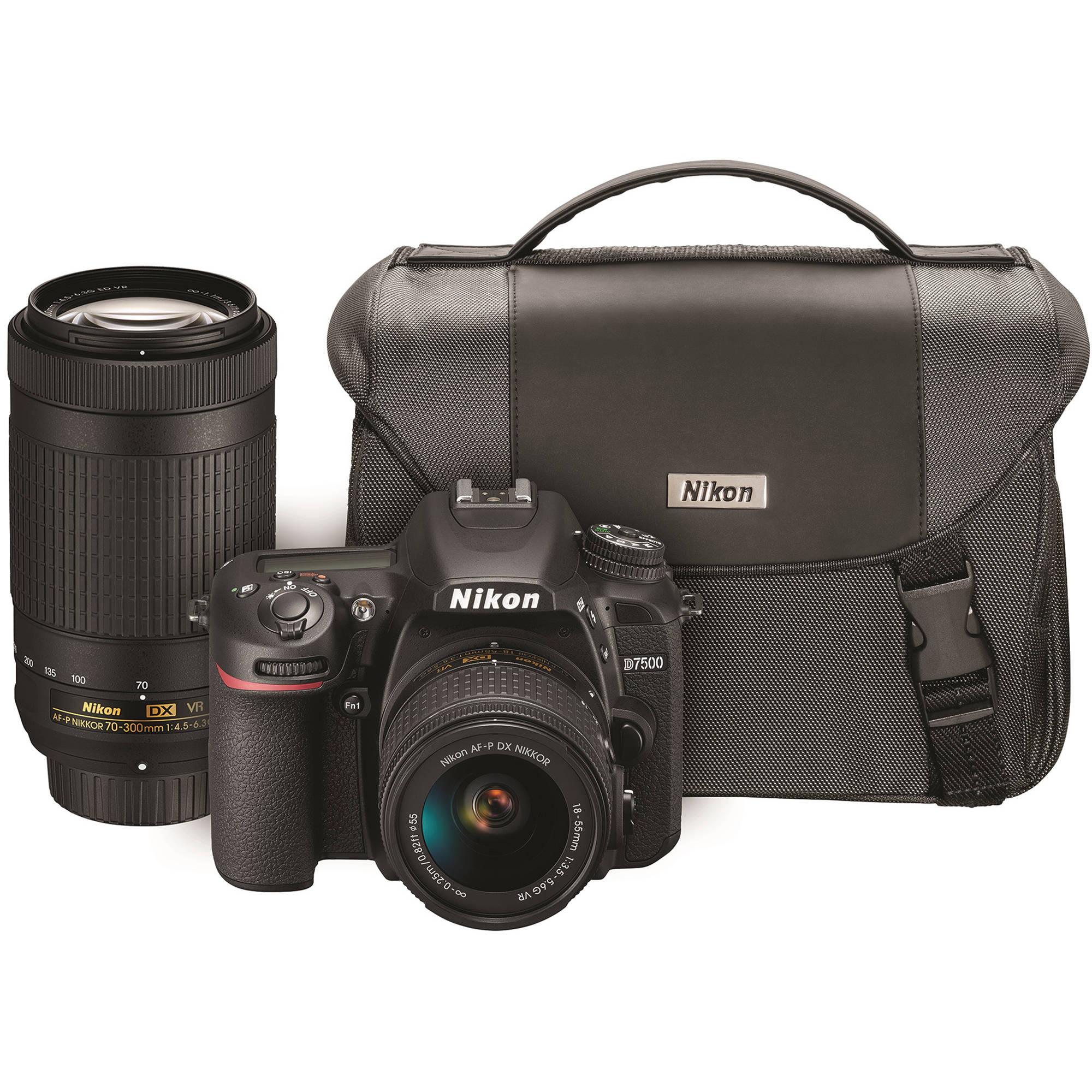 Nikon D7500 DSLR Camera with 18-55mm and 70-300mm VR Lenses Kit