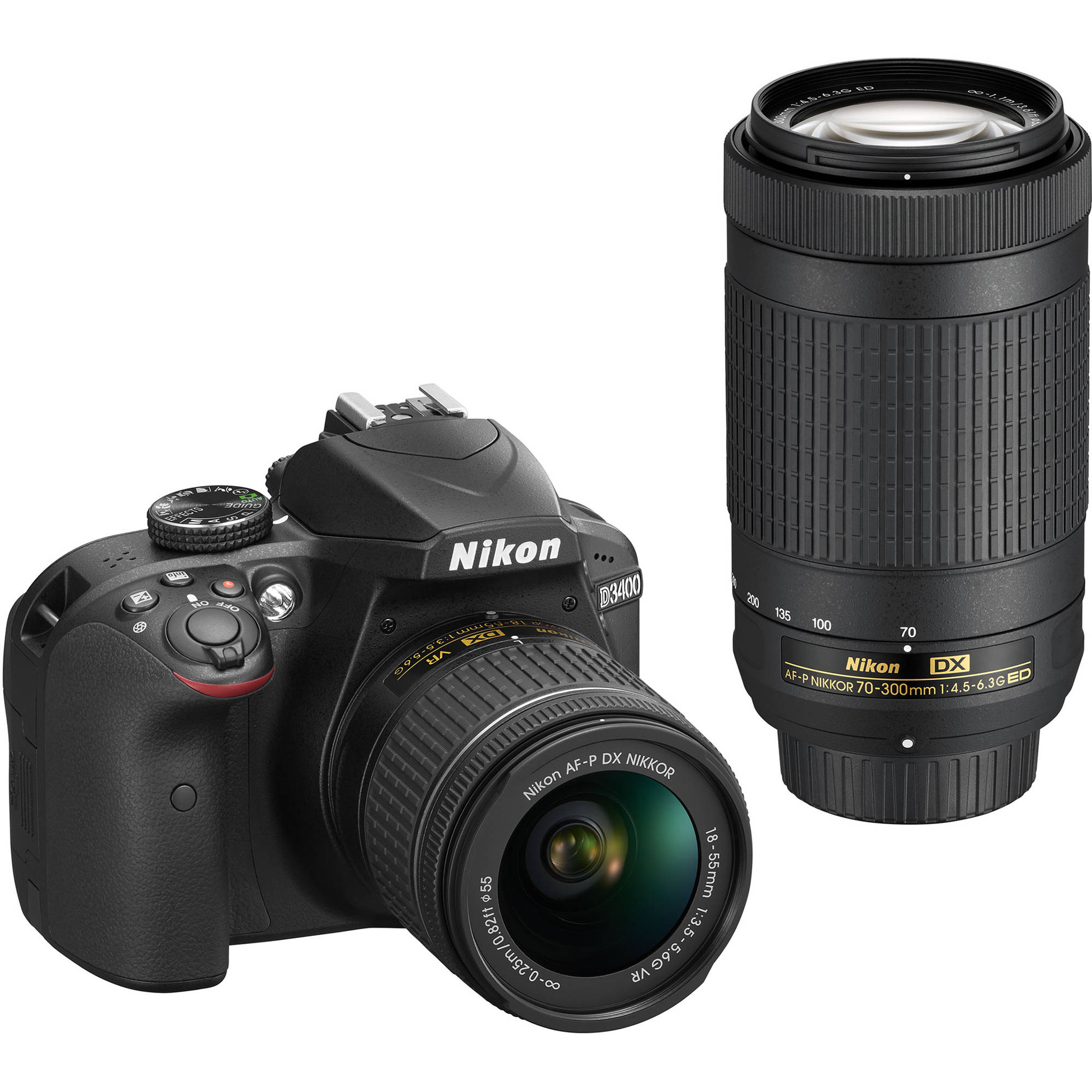 Nikon D3400 DSLR Camera with 18-55mm and 70-300mm Lenses 1573