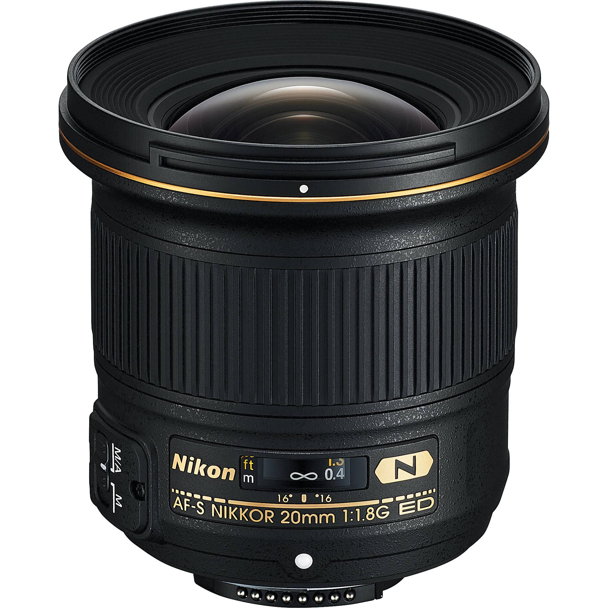 Nikon AF-S NIKKOR 20mm f/1.8G ED Lens 20051 B&H Photo Video