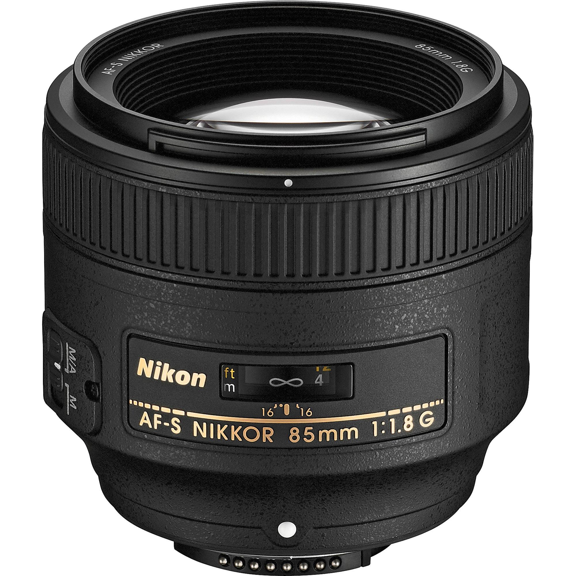 Nikon AF-S Nikkor 85mm f/1.8G Obiettivo, Nero [Versione EU ...