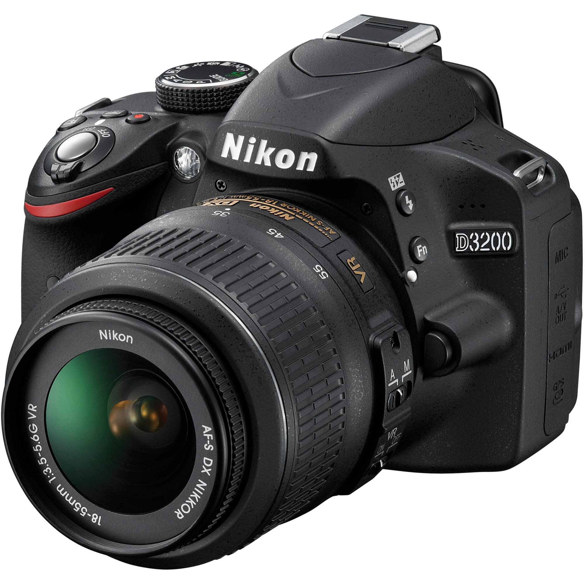 Nikon D3200 DSLR Camera with NIKKOR 18-55mm Lens 25492 ...