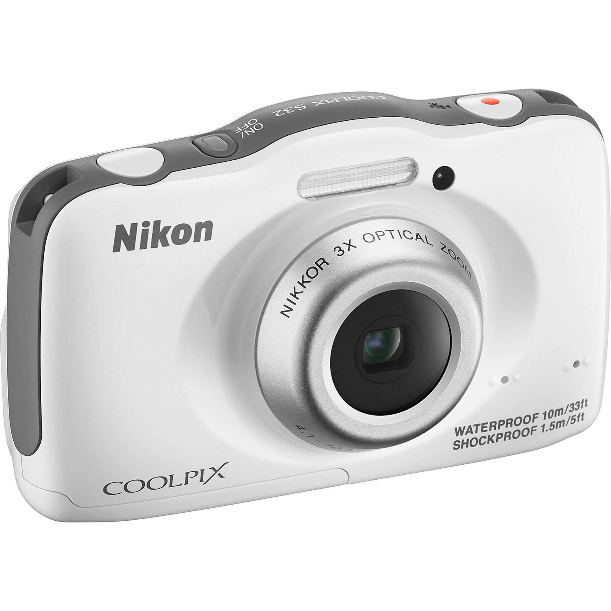 nikon coolpix s32 digital camera white 26460 b h photo video. Black Bedroom Furniture Sets. Home Design Ideas